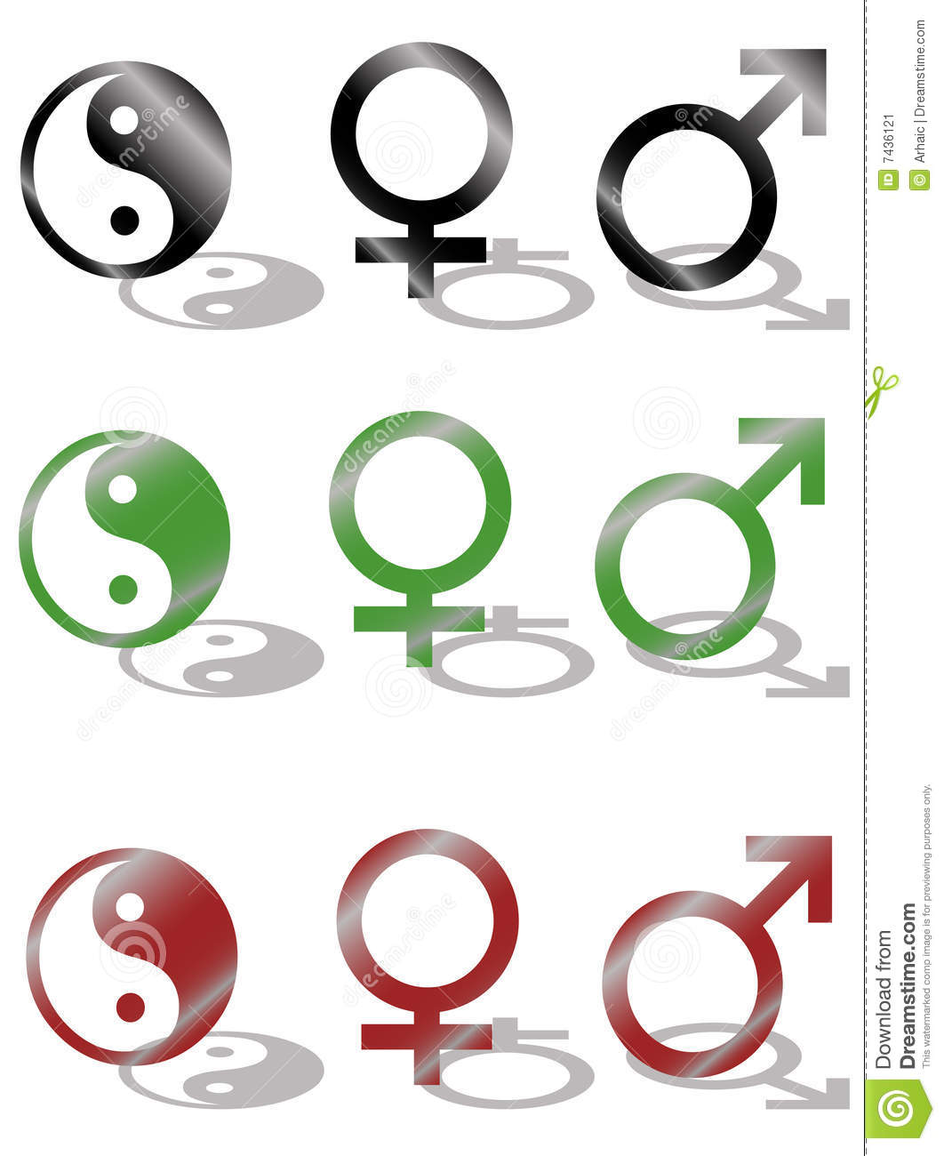 Yin Yang Male And Female Symbol Stock Vector Illustration Of