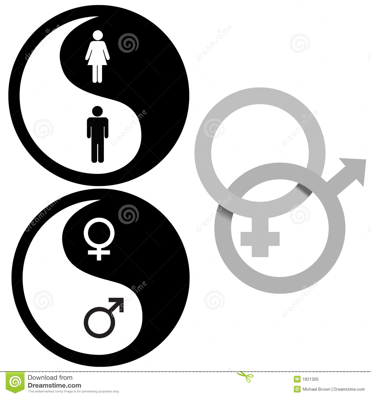 Yin yang male female symbols stock vector illustration of yin yang male female symbols biocorpaavc