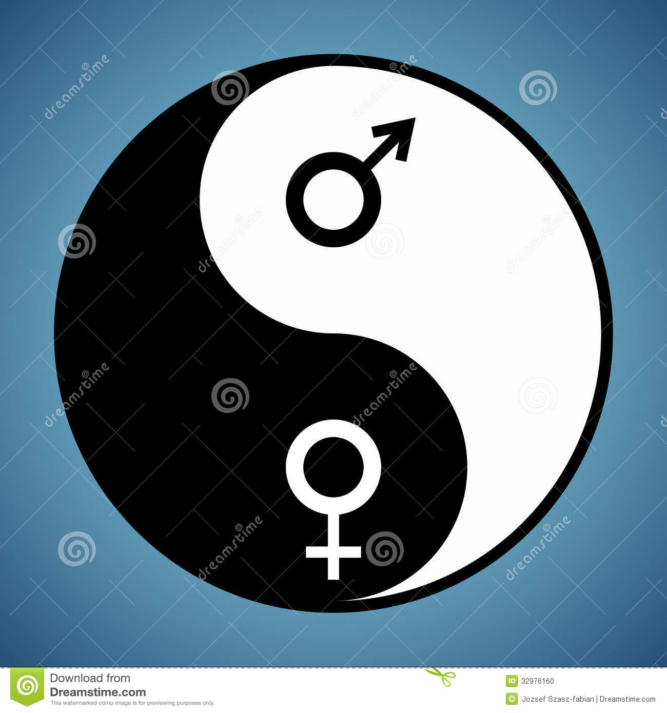 Yin Yang Man And Woman Stock Vector Illustration Of Icon 32976160