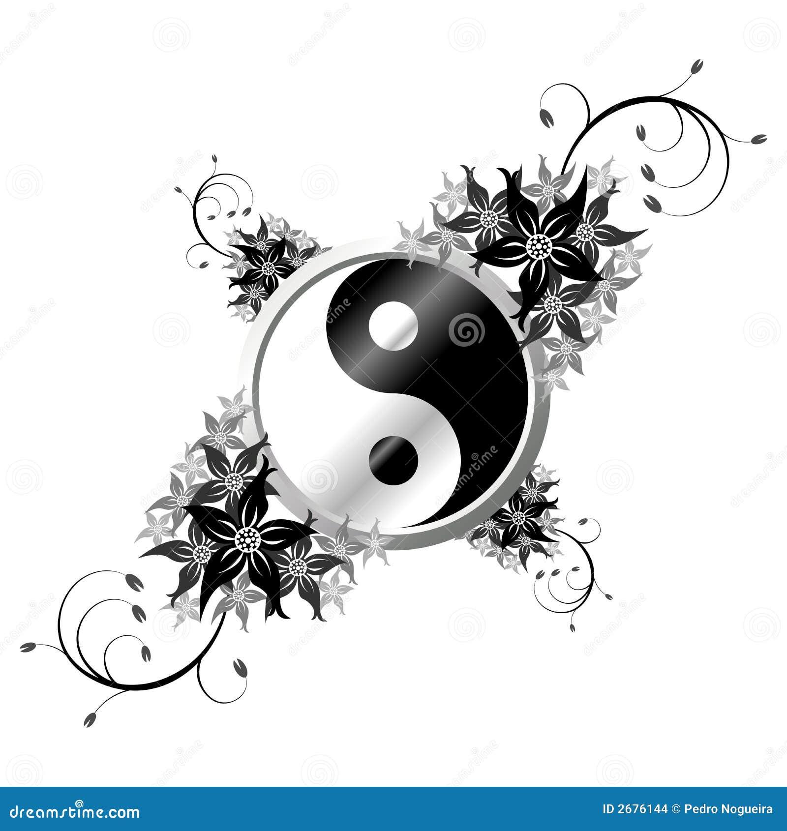 yin yang mit blumen stockbilder bild 2676144. Black Bedroom Furniture Sets. Home Design Ideas