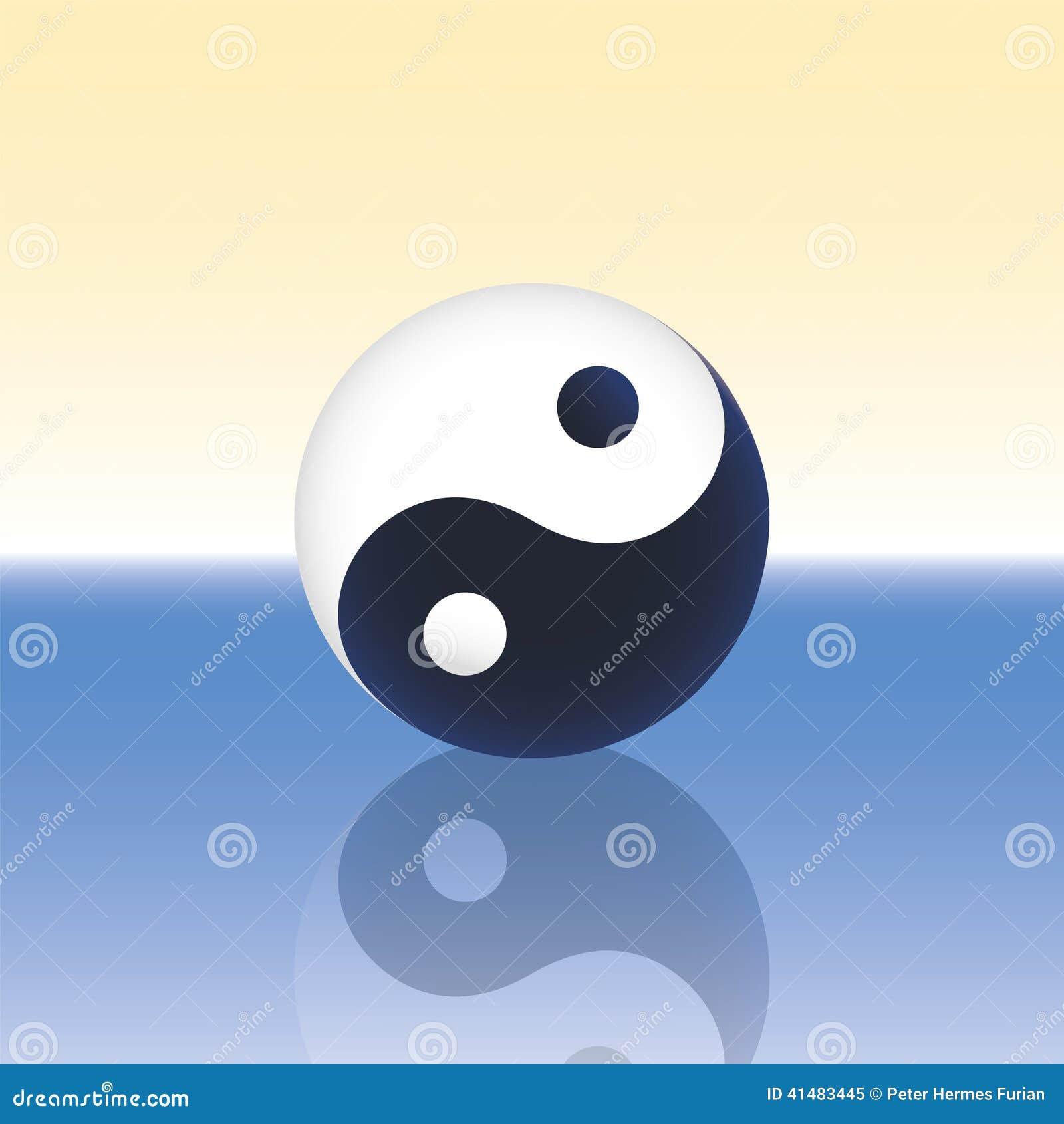 yin yang ocean stock photo image 41483445 Black and White Ying Yang Black and White Yin and Yang Kittens