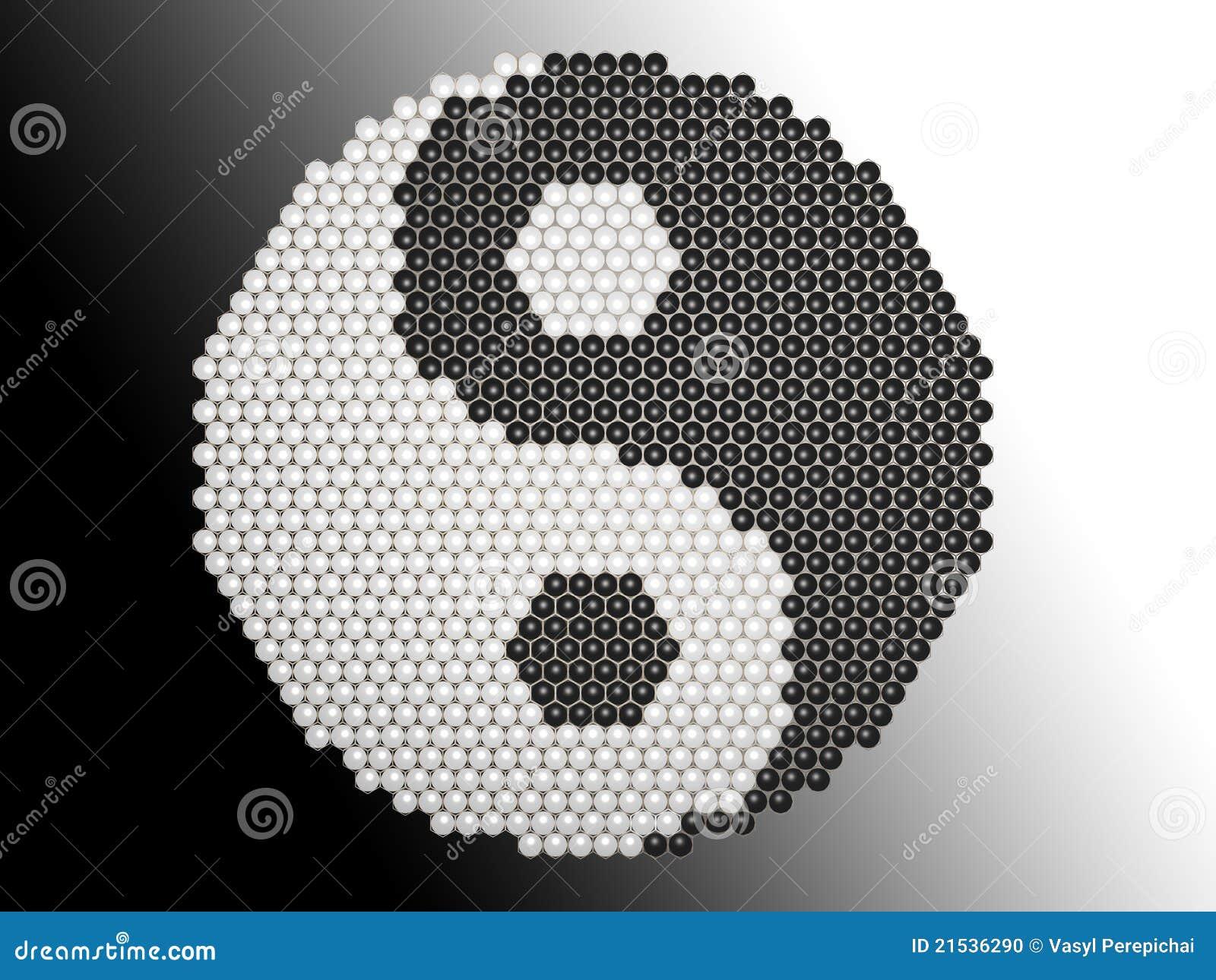 Yin Yang Puzzle Stock Illustration Illustration Of Icon 21536290