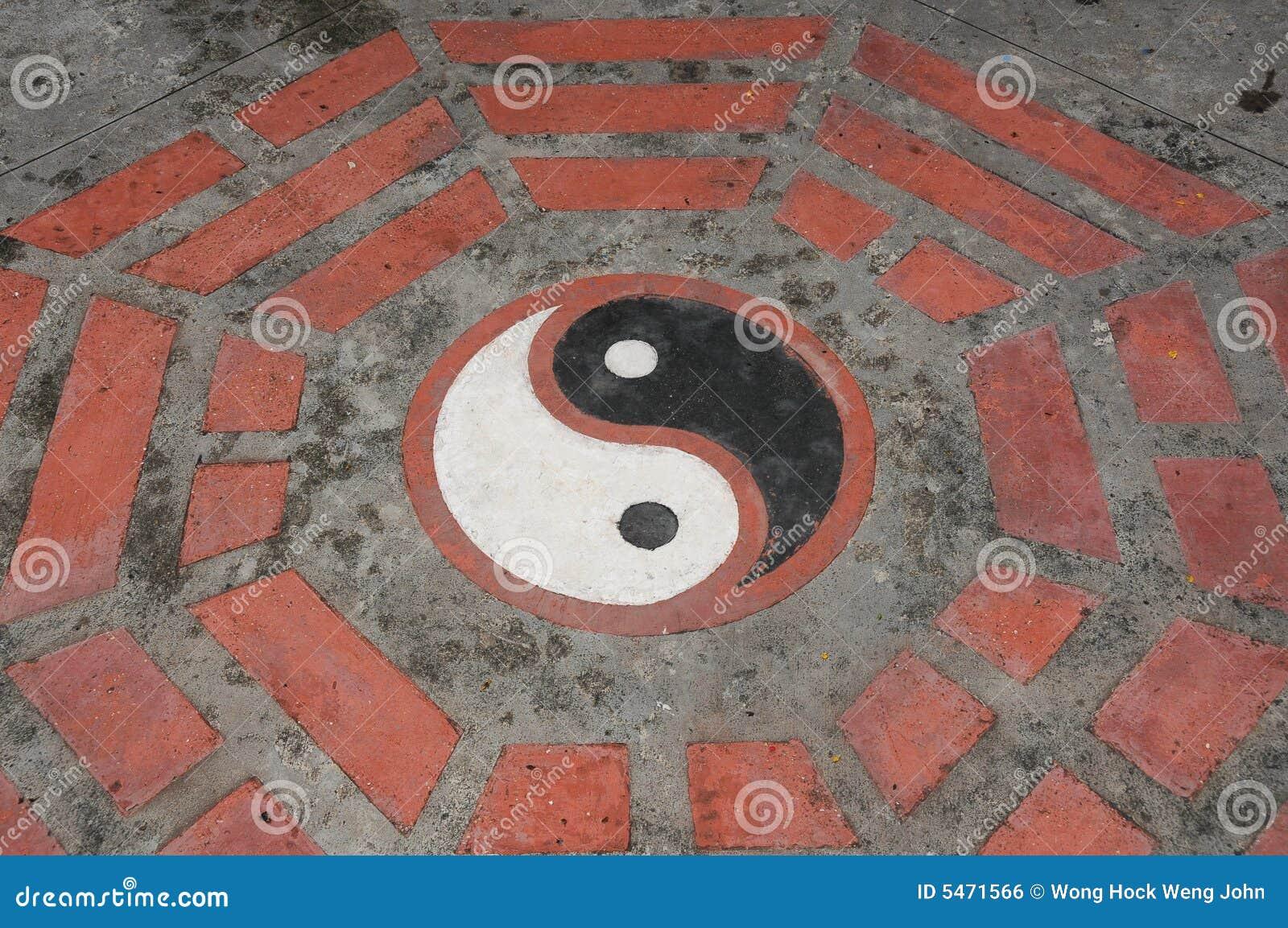 Fußboden John ~ Yin yang symbol auf dem fußboden stockfoto bild von kulturell