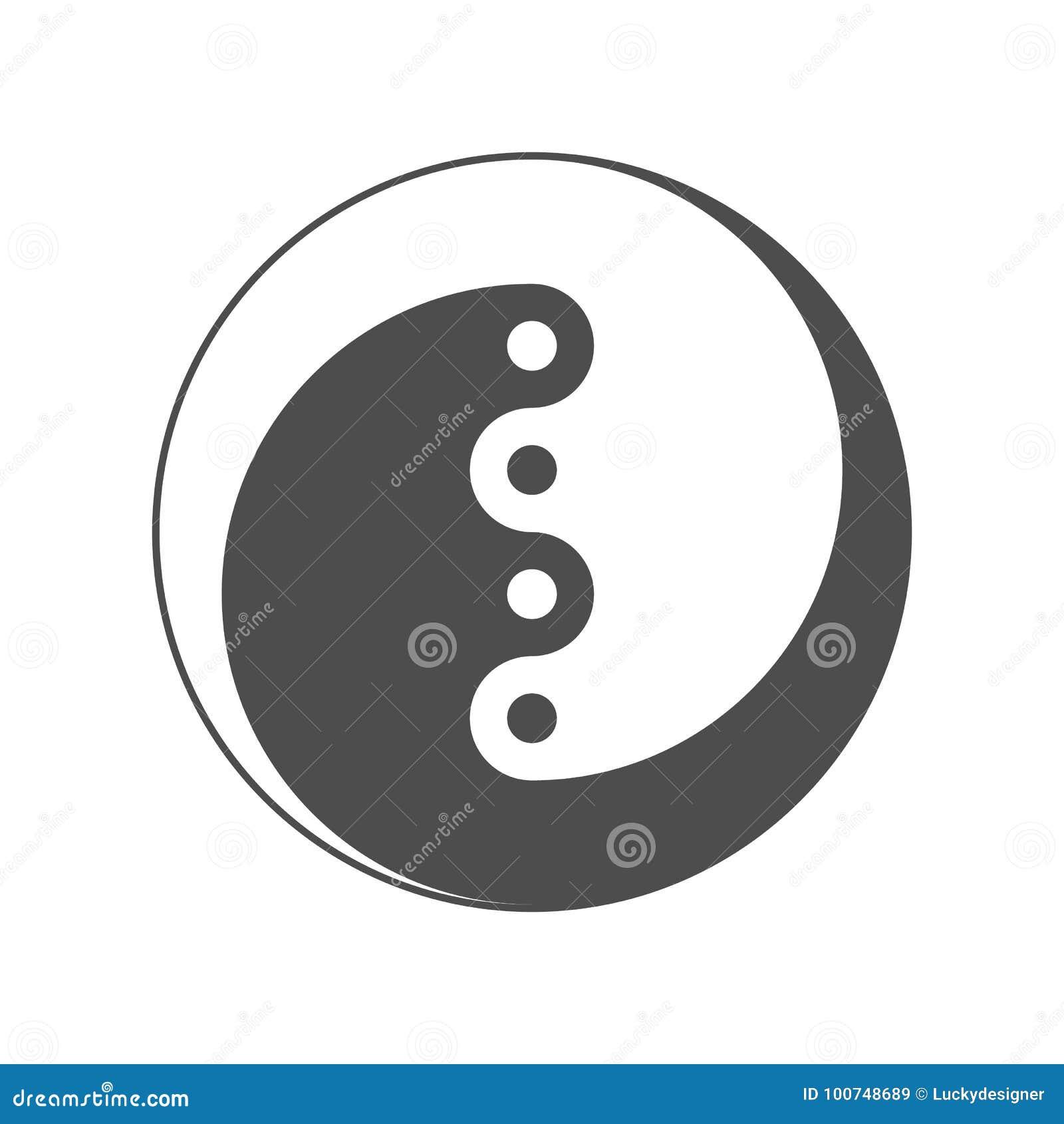 Yin Yang Symbol Of Balance And Harmony Vector Stock Vector