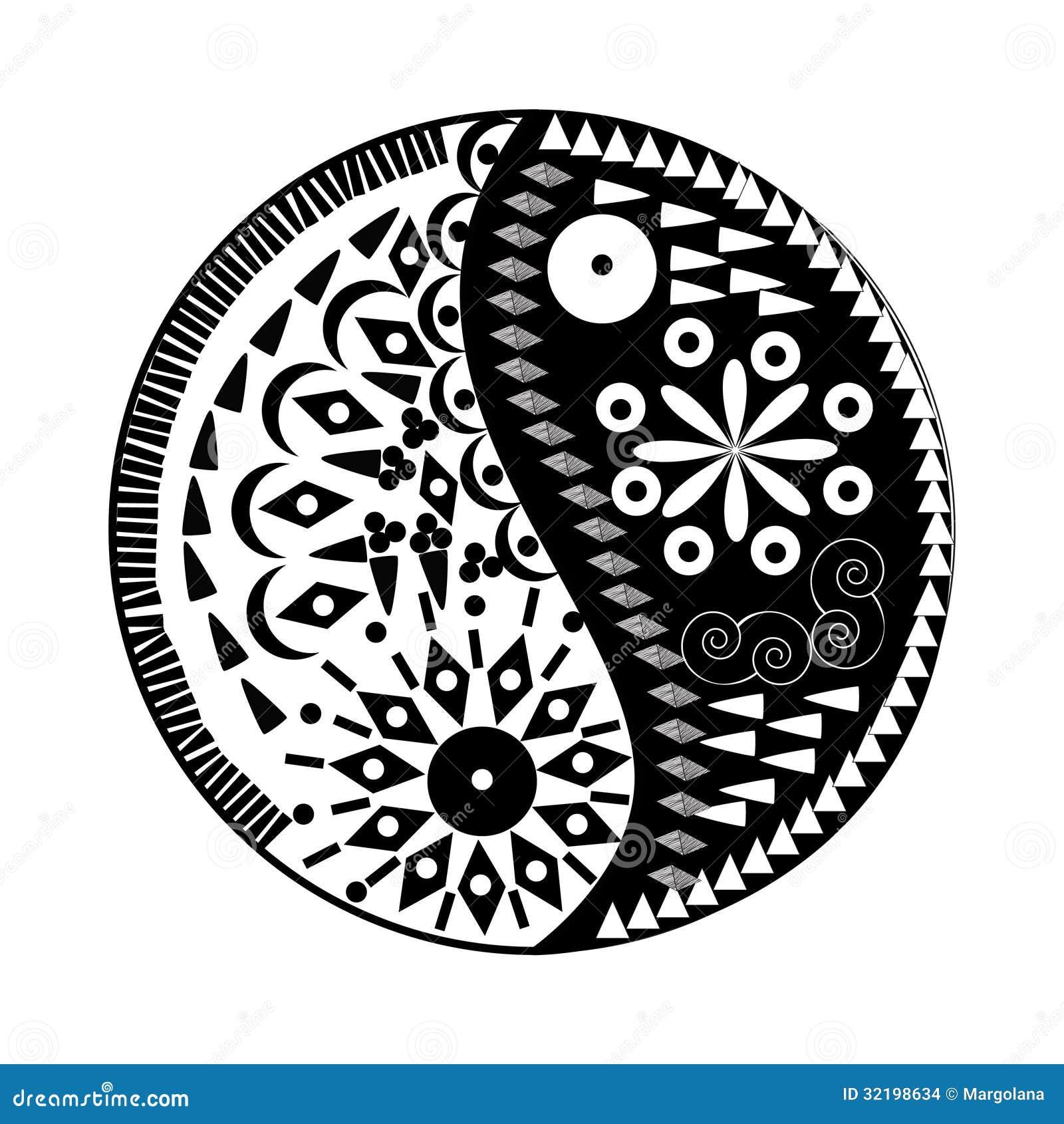 Yin yang symbol floral symbol stock vector illustration of asian yin yang symbol floral symbol buycottarizona Choice Image