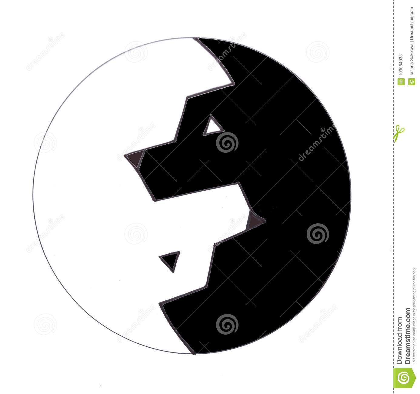 The yin yang symbol in the form of two wolves stock vector the yin yang symbol in the form of two wolves buycottarizona Choice Image