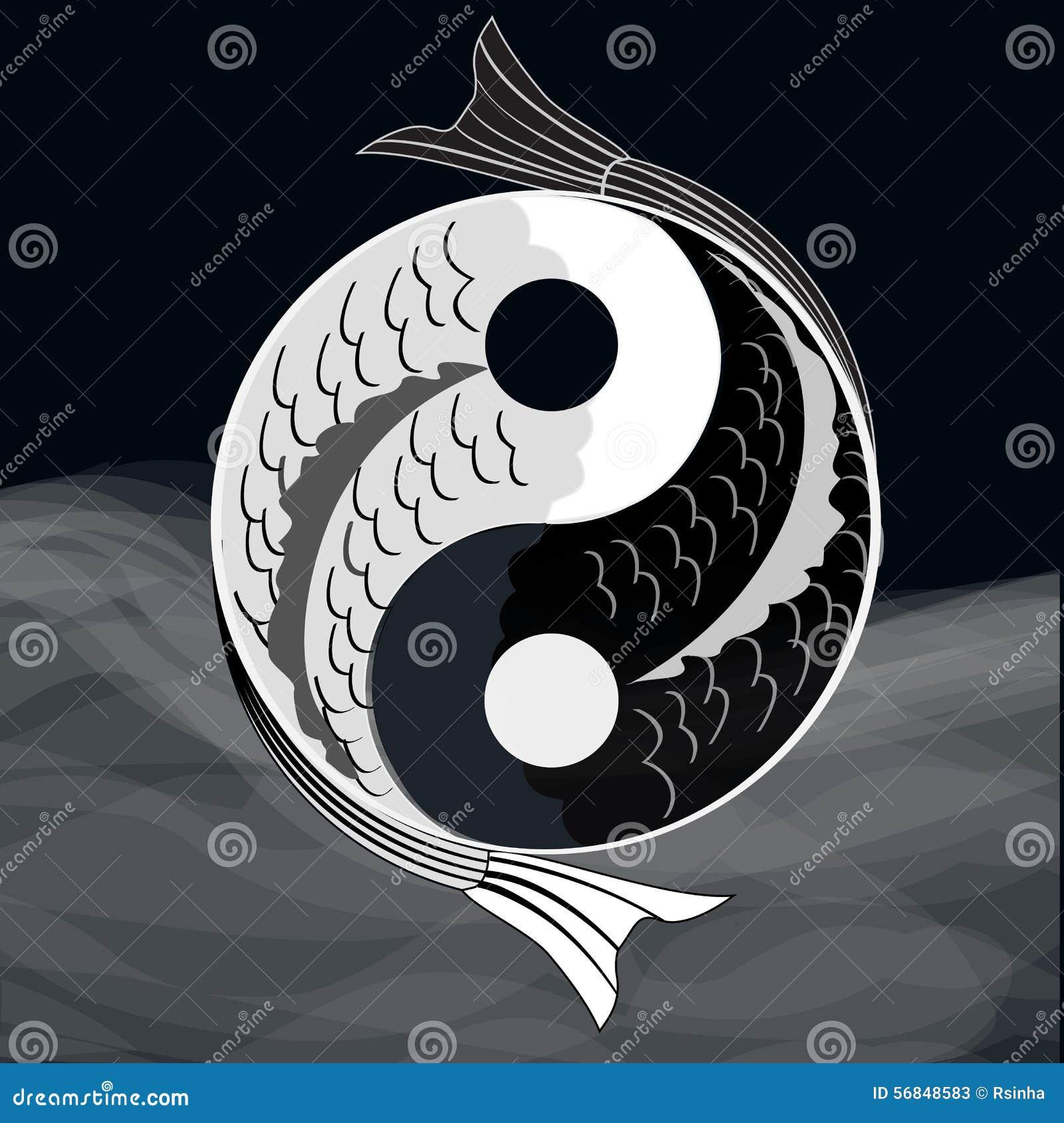 how to make a yin yang symbol