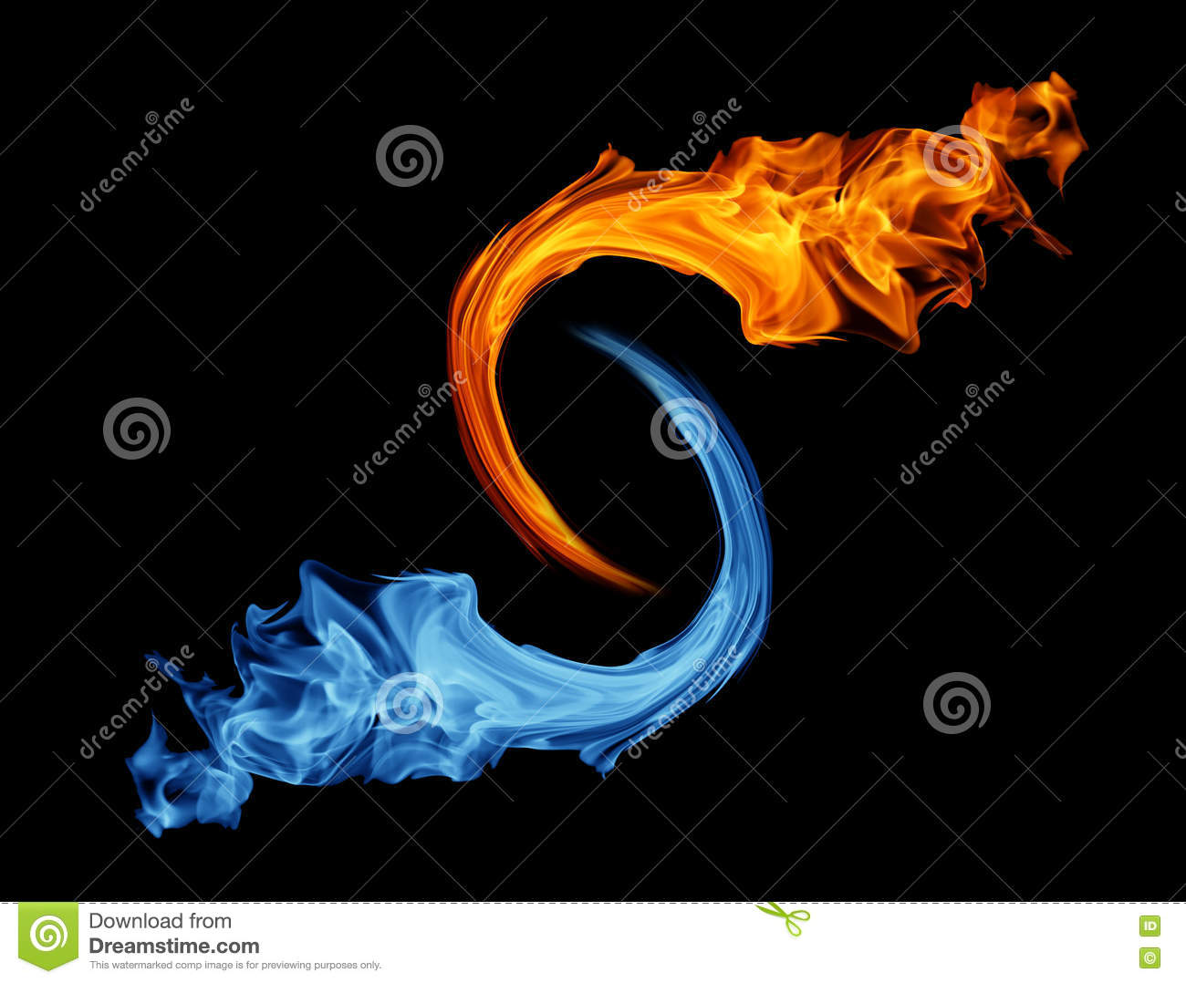 Yin Yang Symbol Ice And Fire Stock Photo Image Of Cold Buddhism