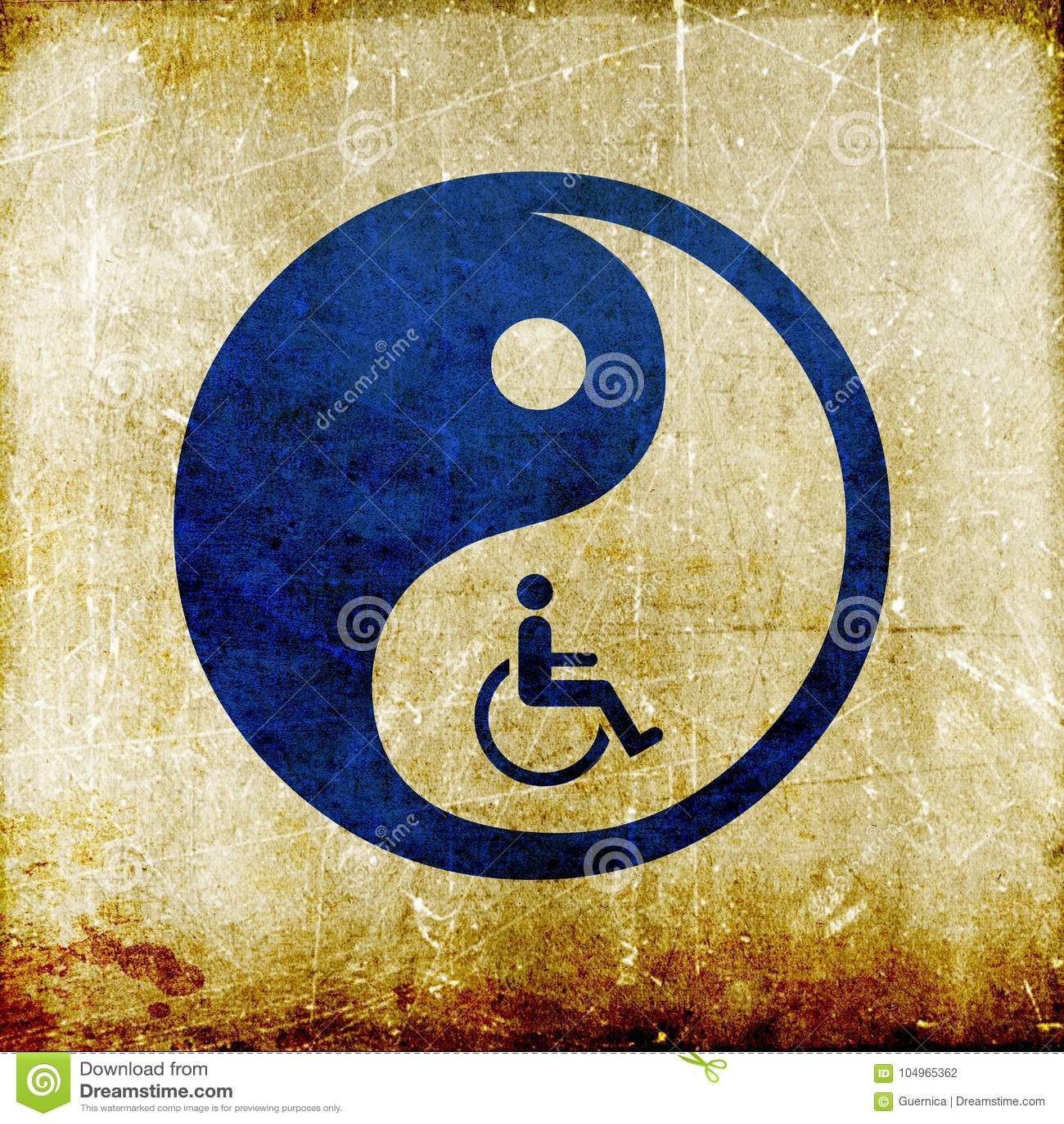 Yin yang symbol represent oriental medicine
