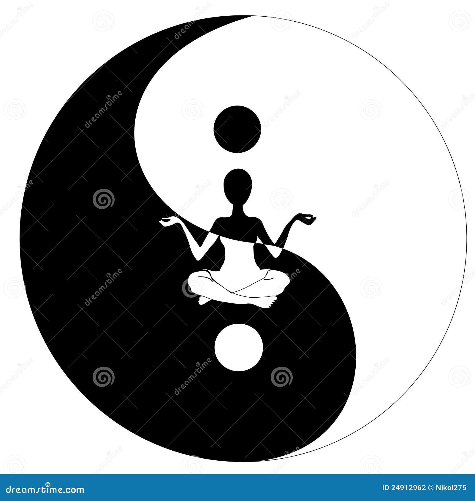 Yin Yang Symbol And Yoga Stock Vector Illustration Of Serenity