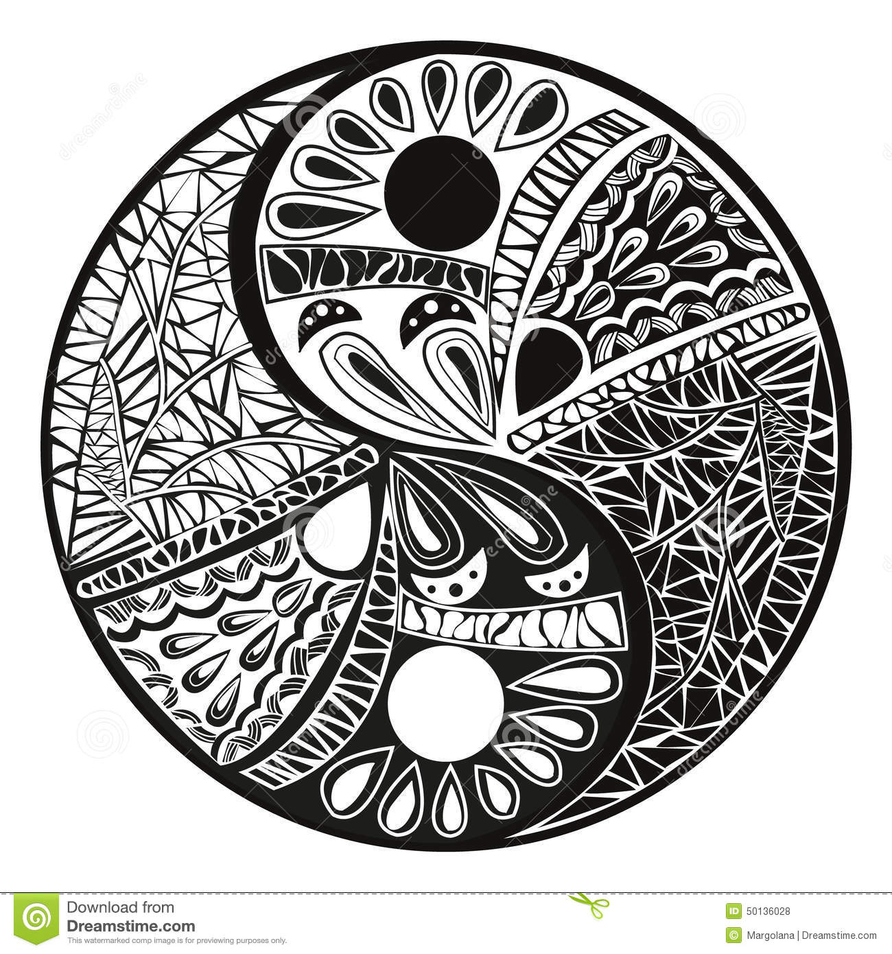 Yin yang tattoo for design symbol illustration stock for Architecture yin yang