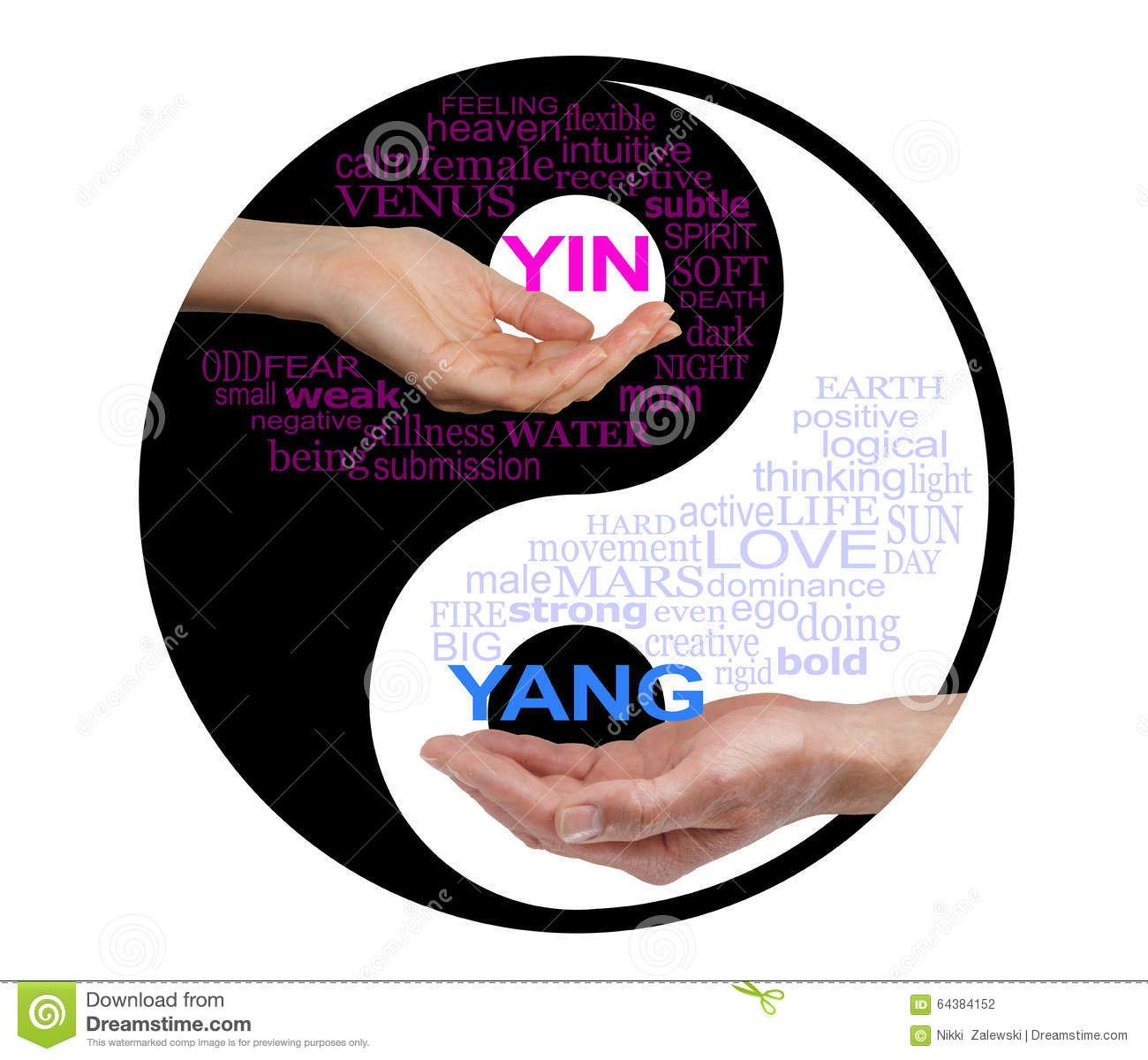 Yin And Yang Together We Are Stronger Stock Photo Image Of Female