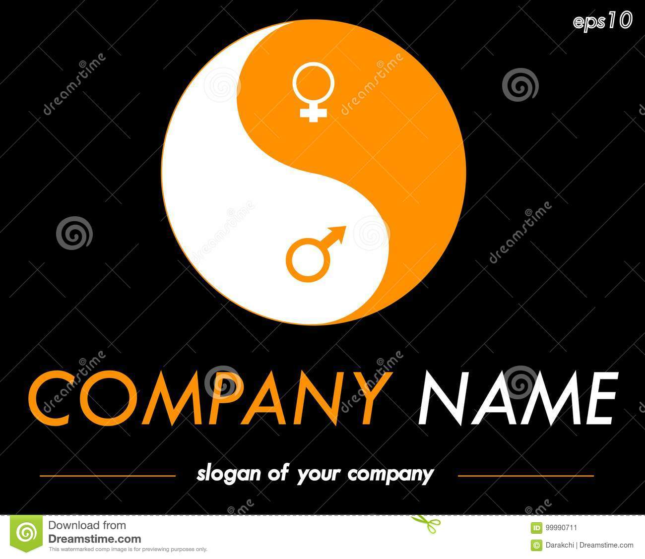 Yin Yang Vector Logo Template Ready Logotype For A Company Or A