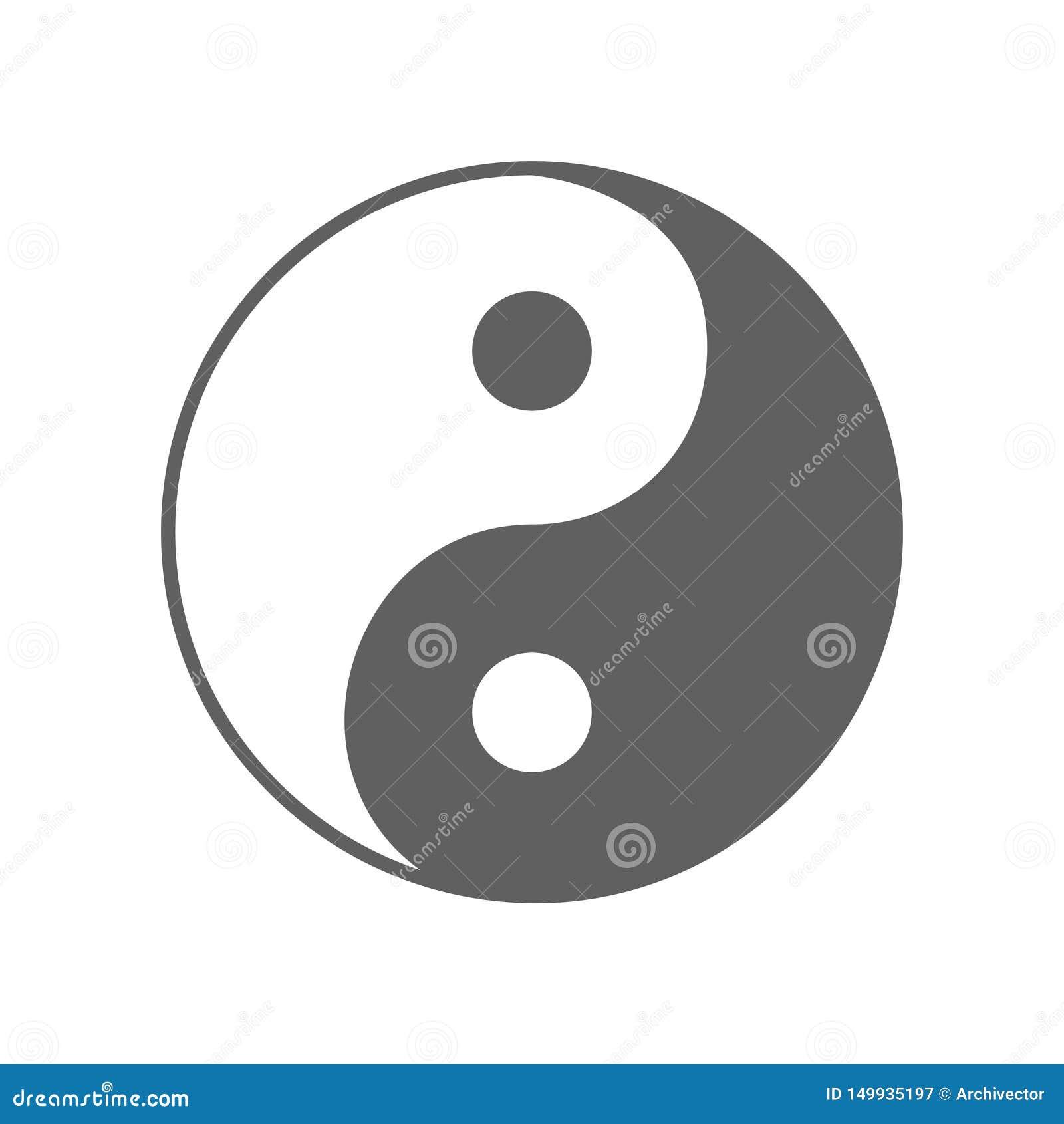 Yin Yang-Zeichen Von Der Alten Chinesischen Philosophie