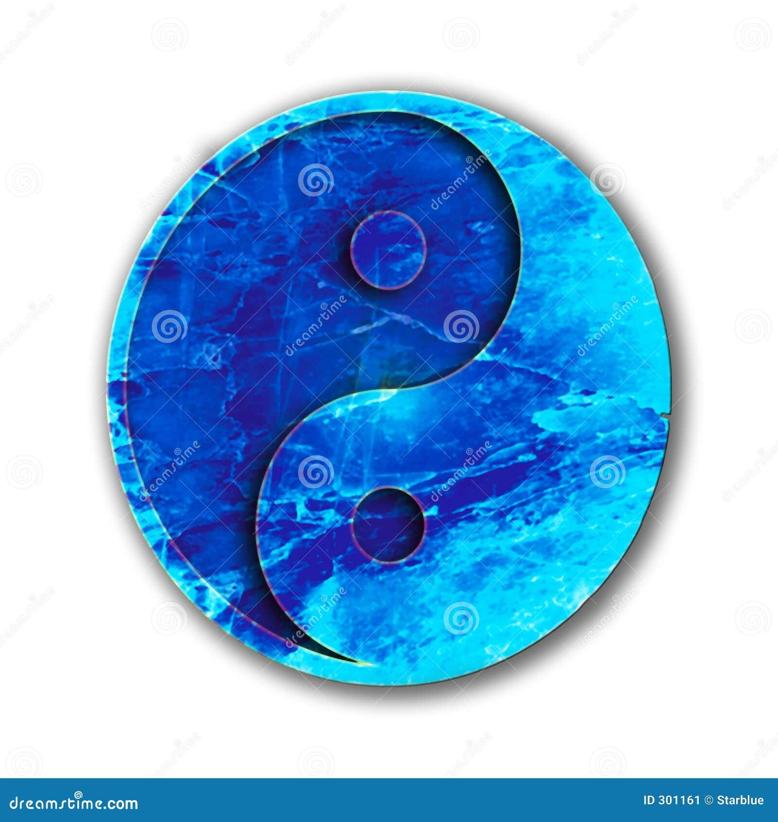Ying Yang niebieski