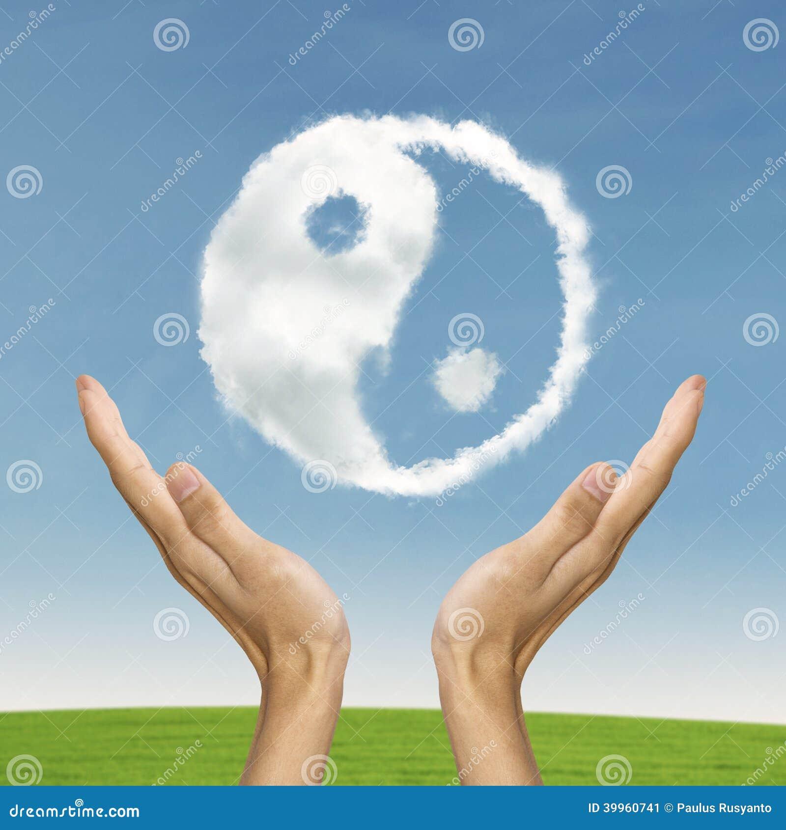 Ying yang som symboliserar livjämvikt