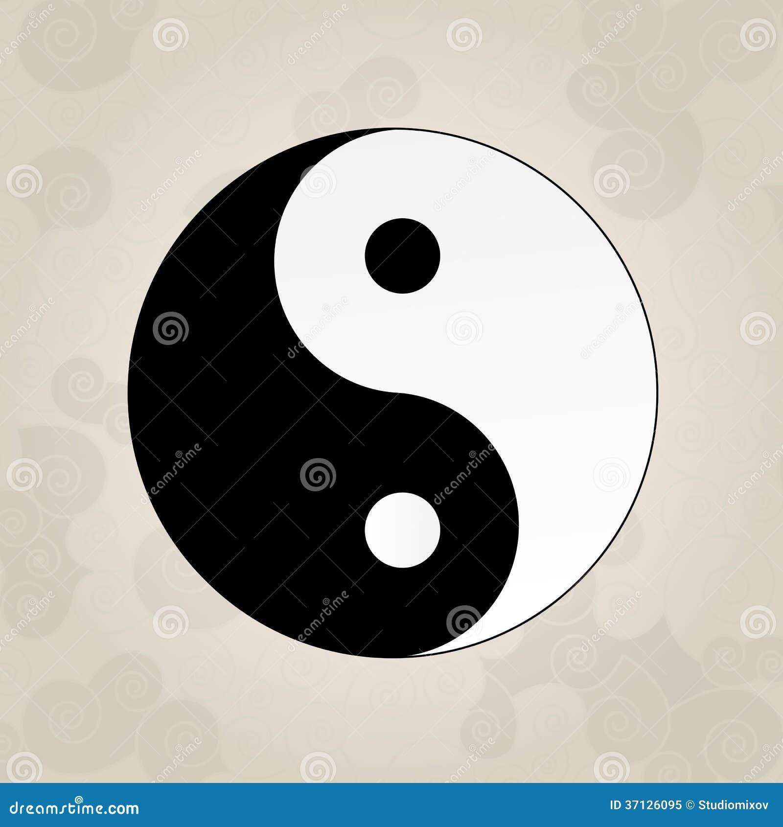 ying yang tatouage de japonais photo libre de droits image 37126095. Black Bedroom Furniture Sets. Home Design Ideas