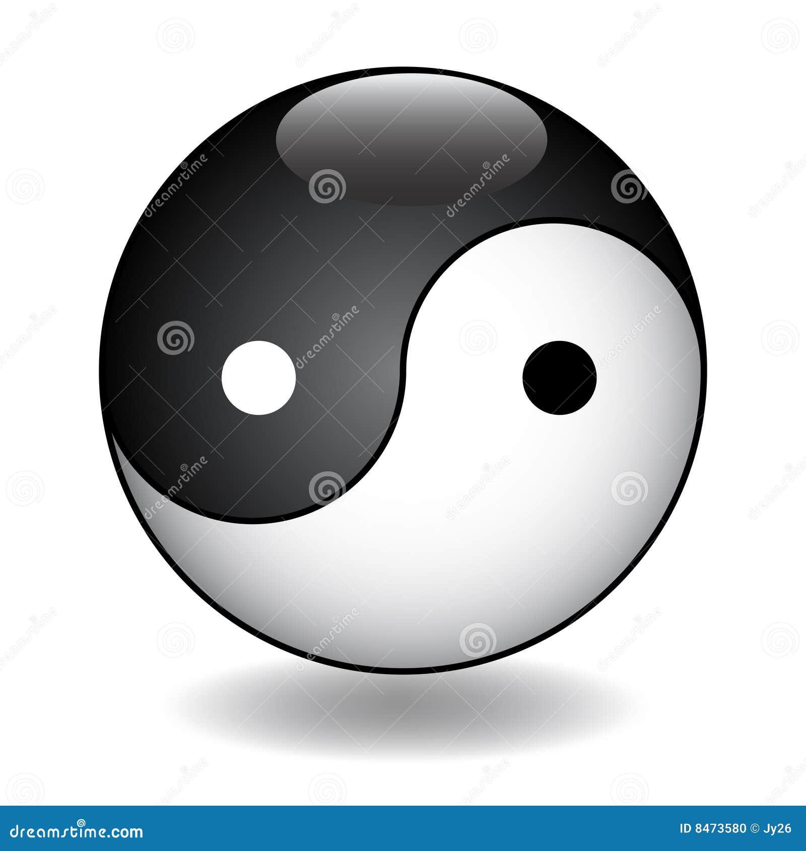 Ying Yang vektorillustration