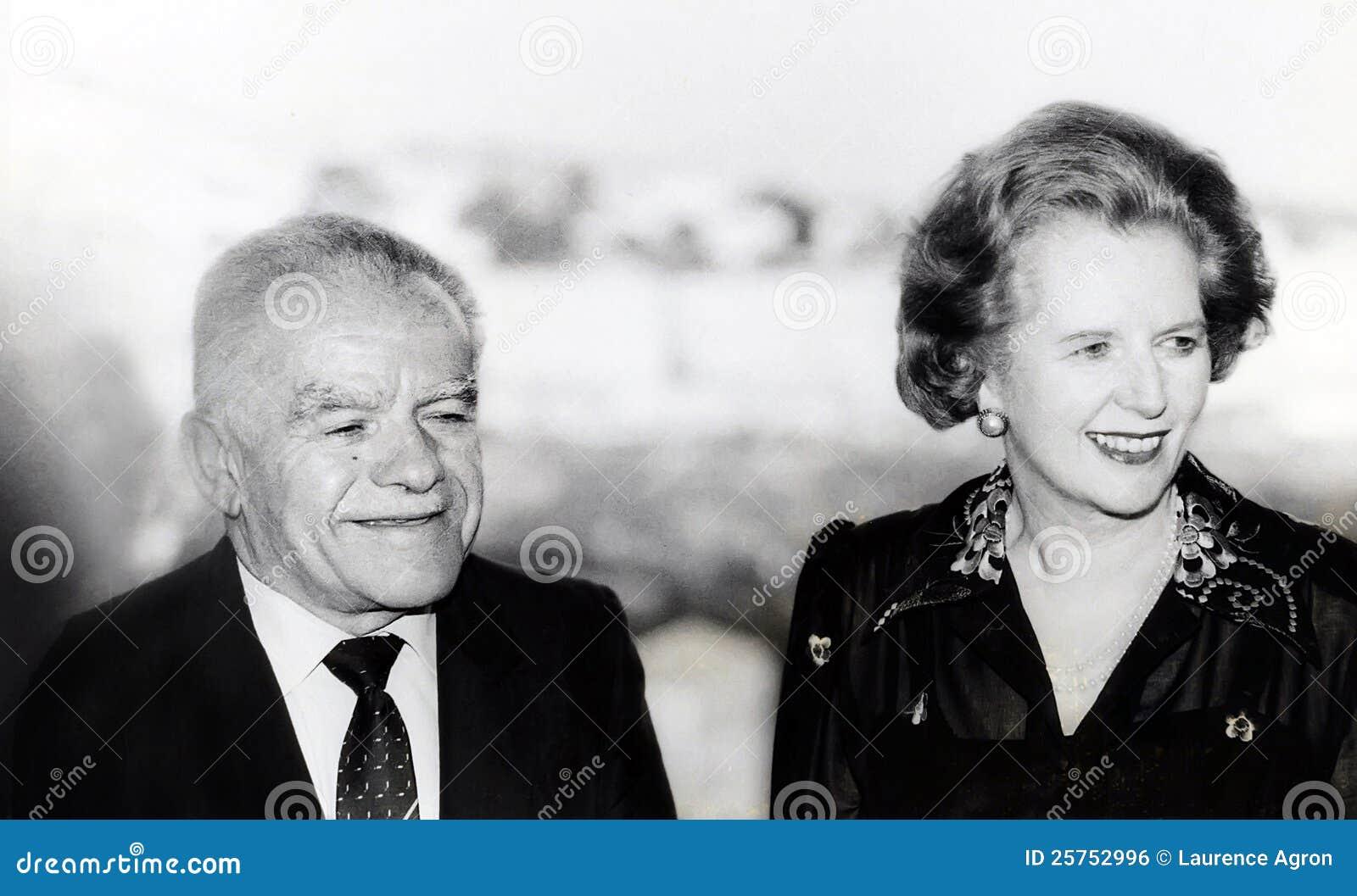 Yitzhak Shamir and Margaret Thatcher