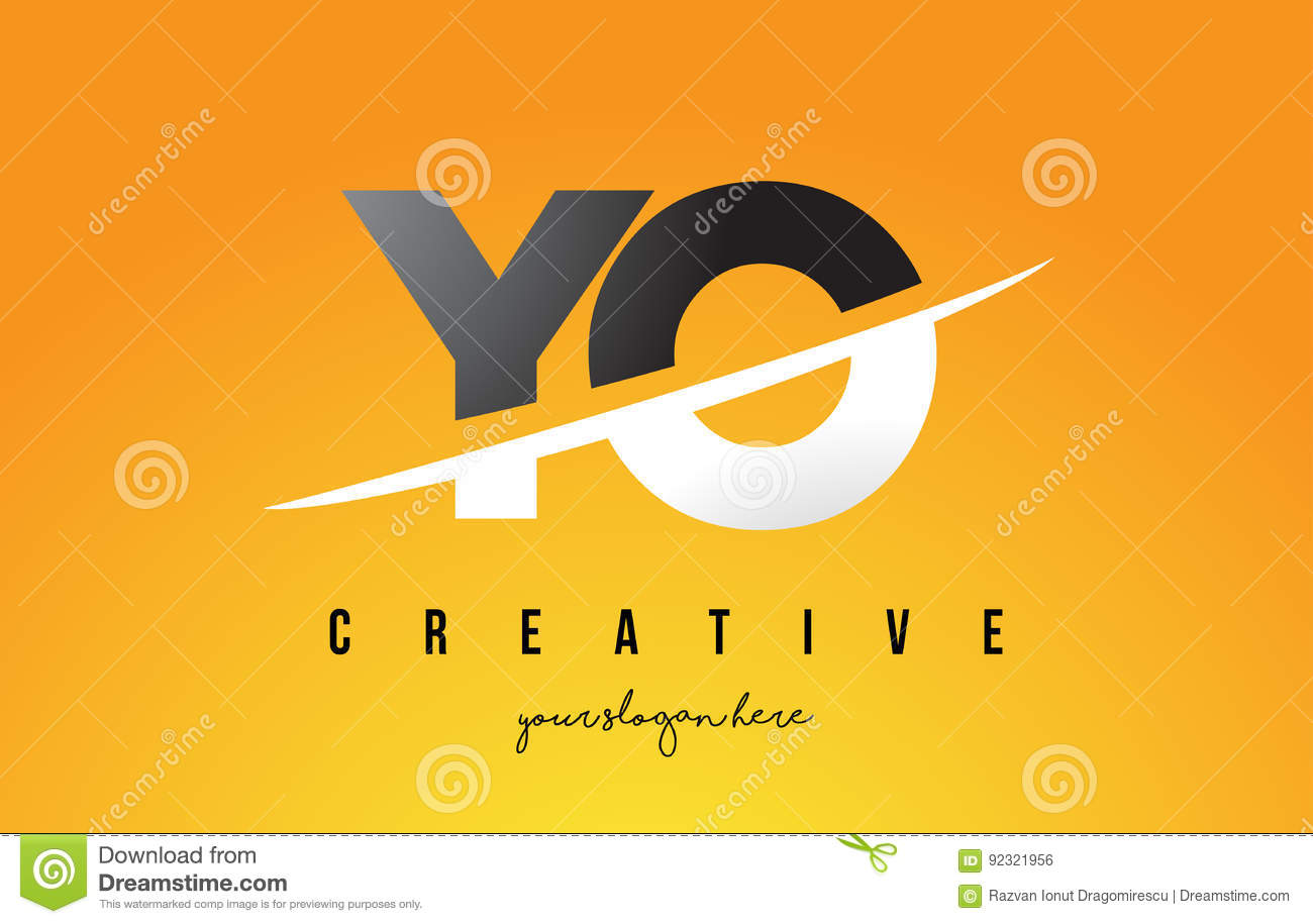 Yo y o letter modern logo design with yellow background and swoo yo y o letter modern logo design with yellow background and swoo buycottarizona Images
