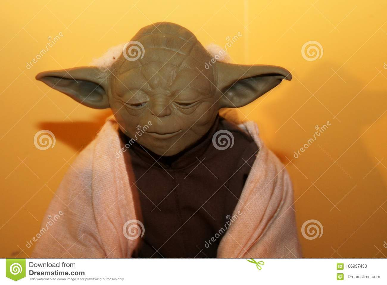 Yoda From Star Wars Character Editorial Image Image Of Concerned