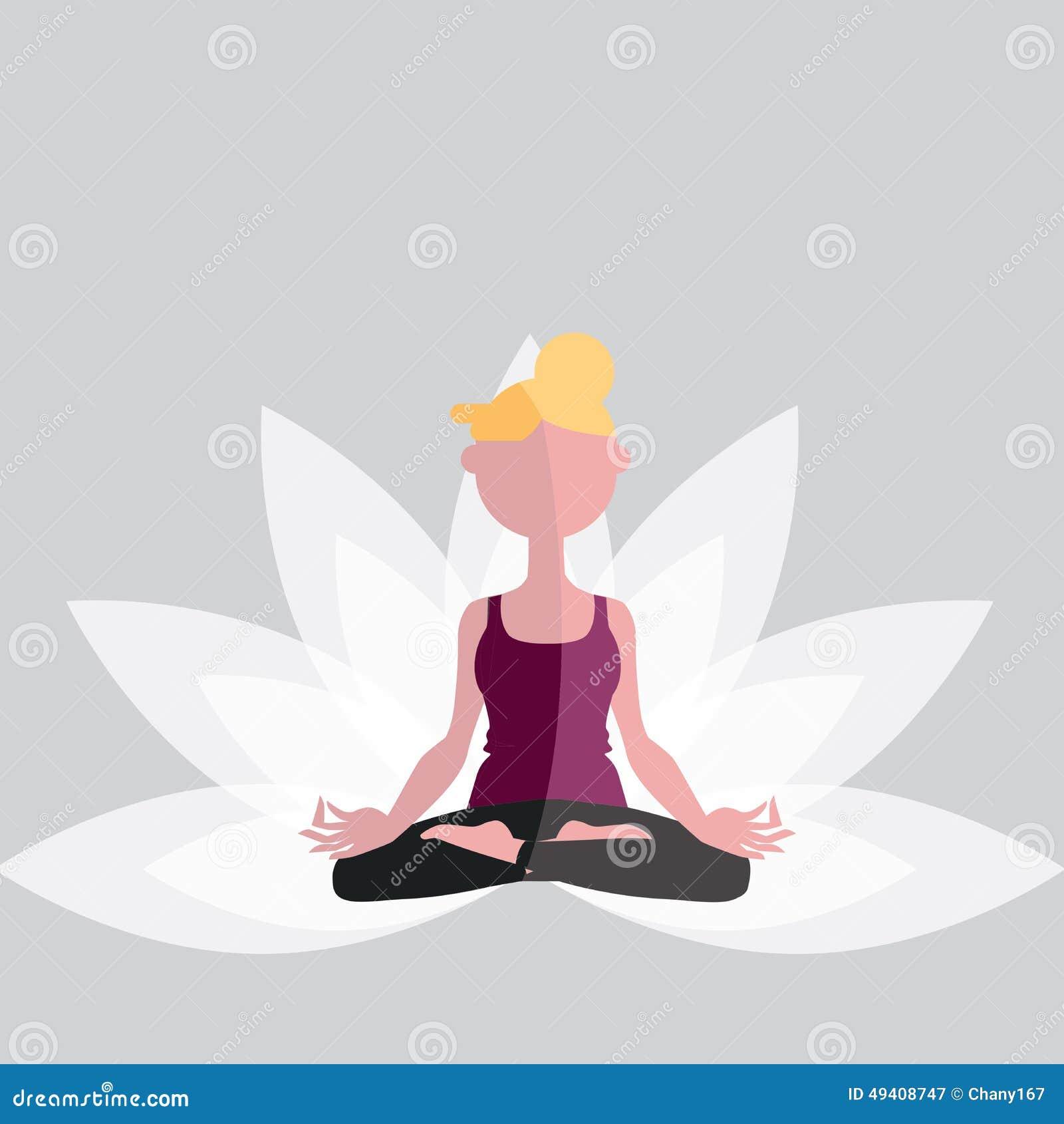 Download Yoga stock abbildung. Illustration von meditation, karosserie - 49408747