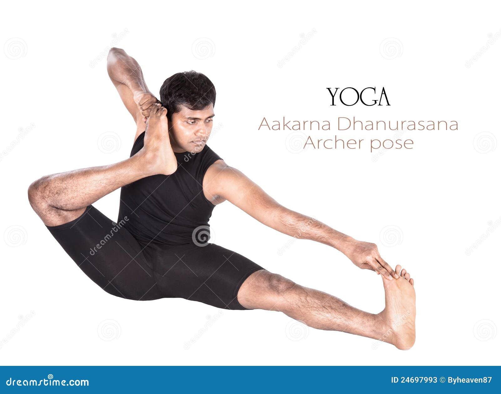 Yoga Aakarna Dhanurasana Archer Pose Stock Image Image
