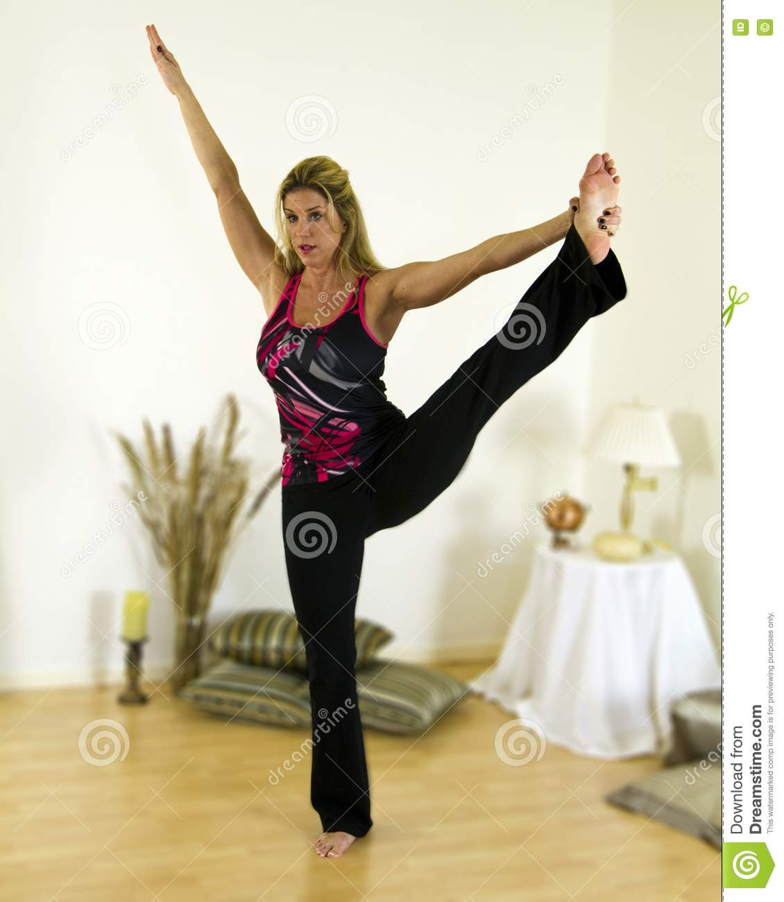 Yoga Advanced Balance Pose Royalty Free Stock Photo ...