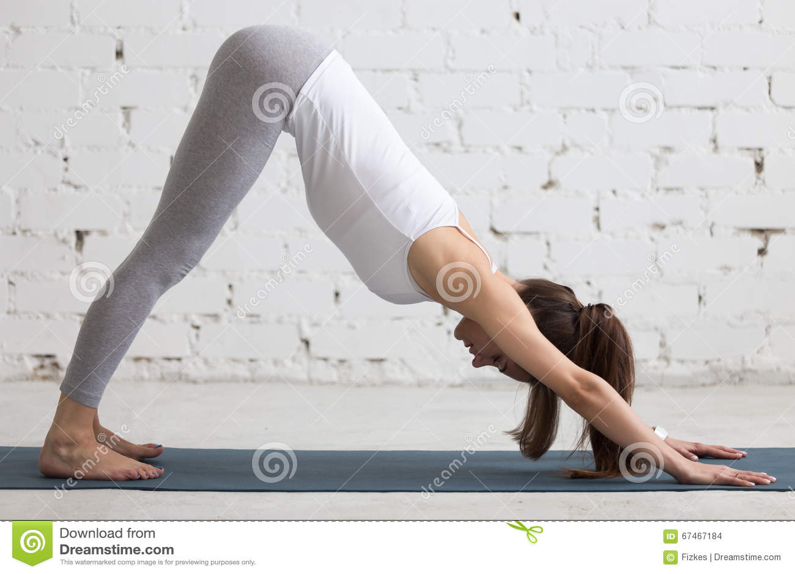 Yoga All 39 Interno Posa Orientata Verso Il Basso Del Cane