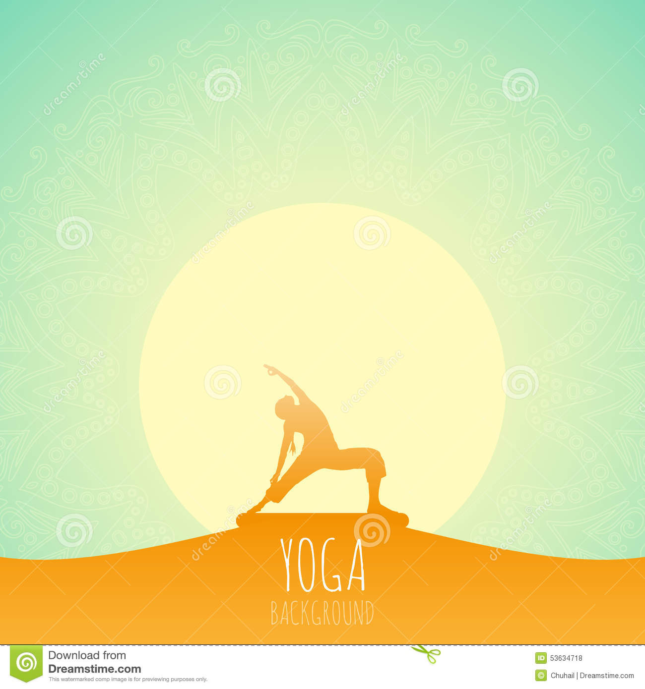 Yoga Background Stock Illustration Image 53634718