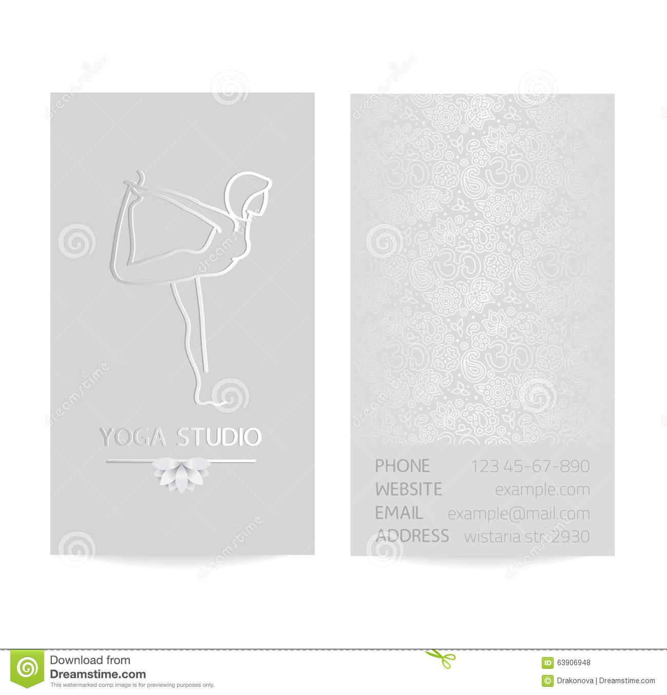 Yoga business card stock vector image of label card 63906948 yoga business card magicingreecefo Images