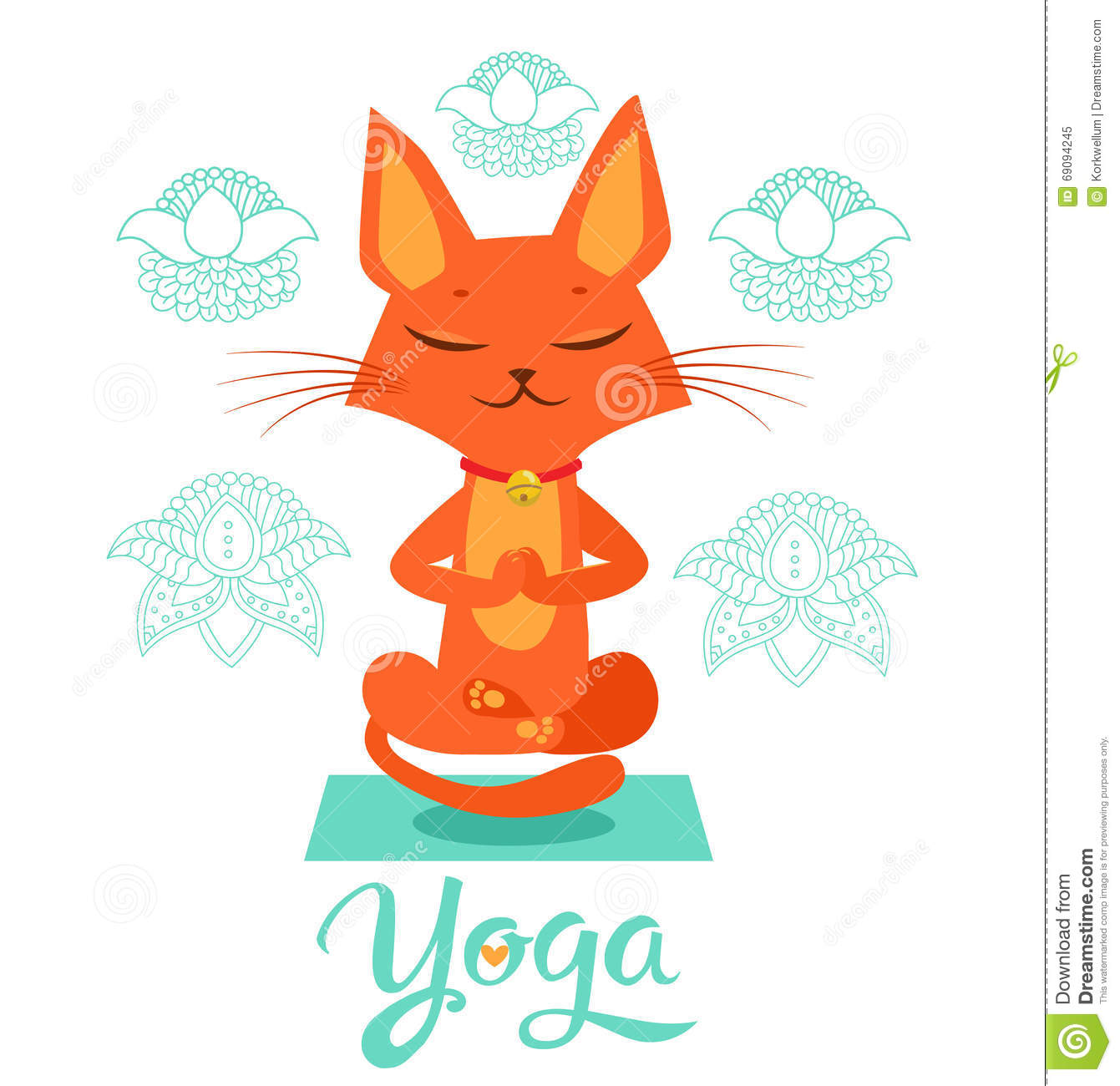 Yoga Cat Pose Yoga Cat Vector Yoga Cat Meme Yoga Cat