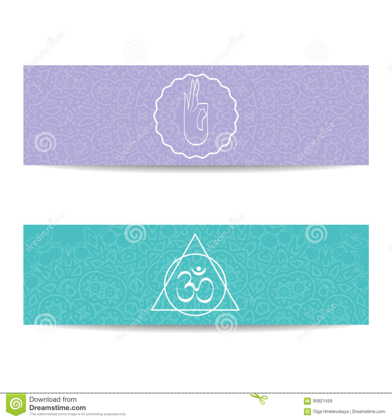 Yoga Class And Studio Template Banner Stock Vector Illustration Of Indian India 95921459