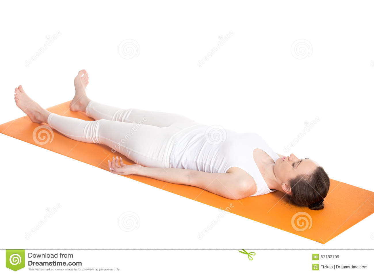 Yoga Pose Shavasana Stock Photo - Image: 48892495