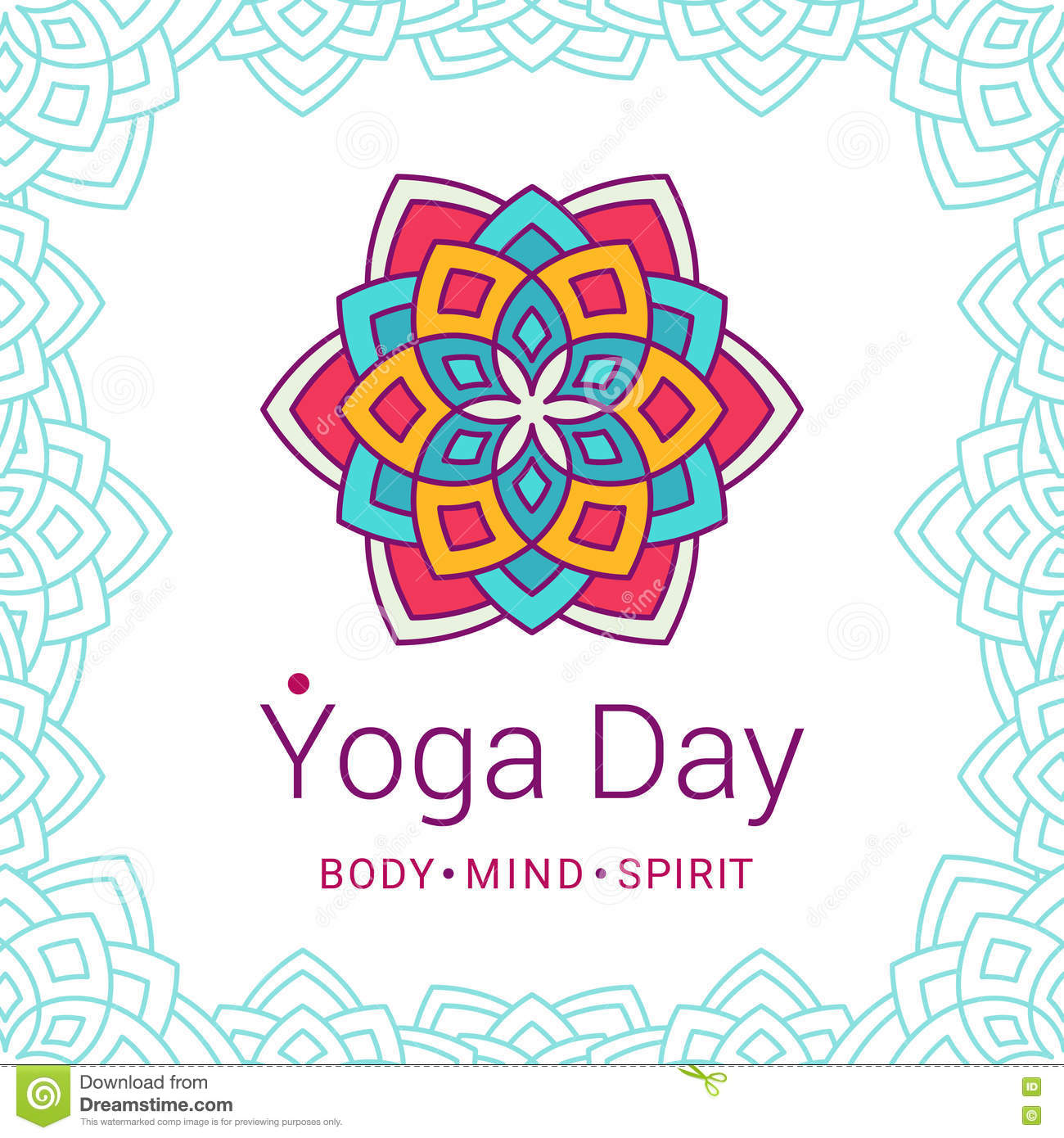 Yoga Day Event Poster Design Stock Vector