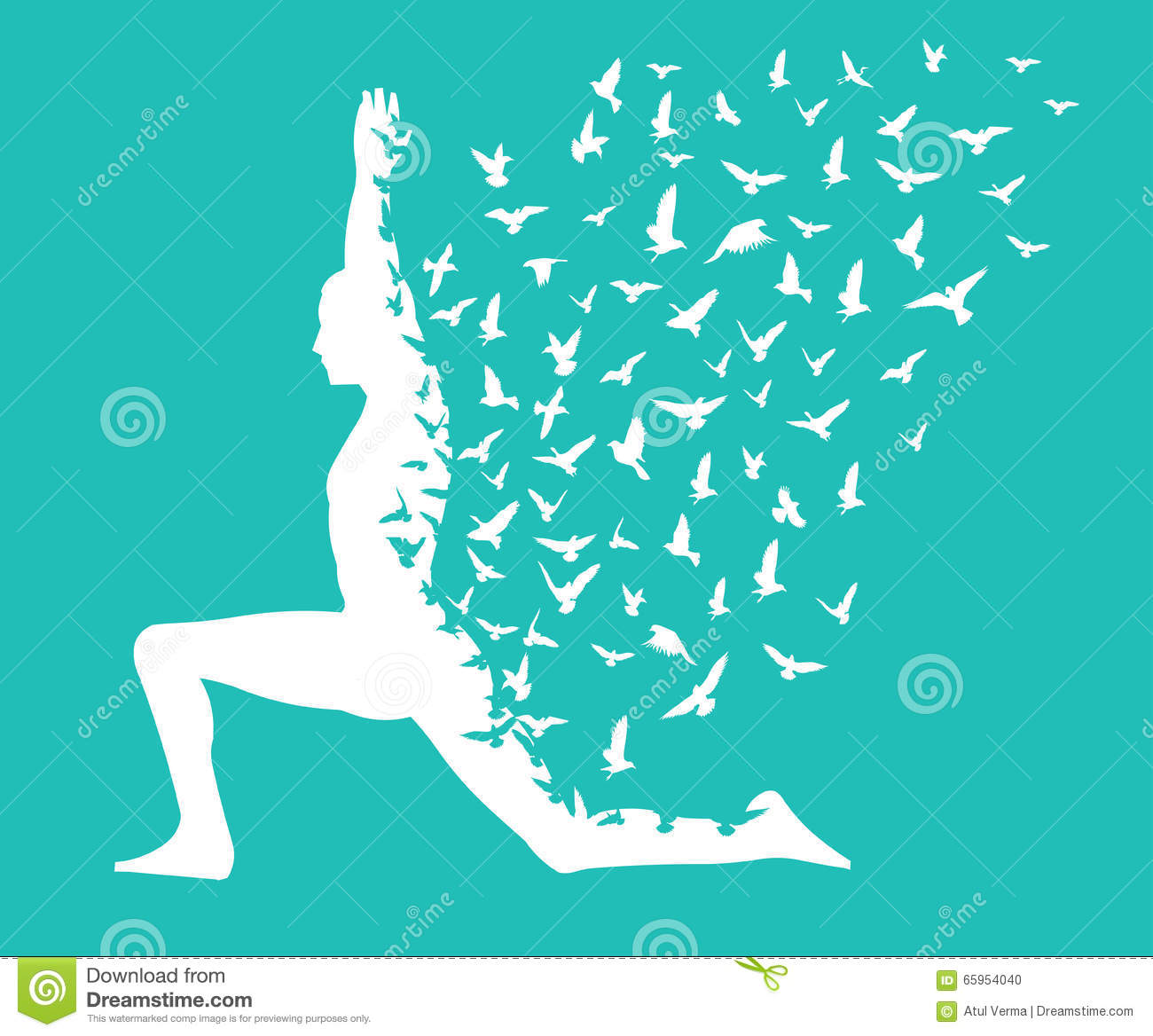 Yoga Day/yoga Infographic With Birds Flying Design, Templates For ...