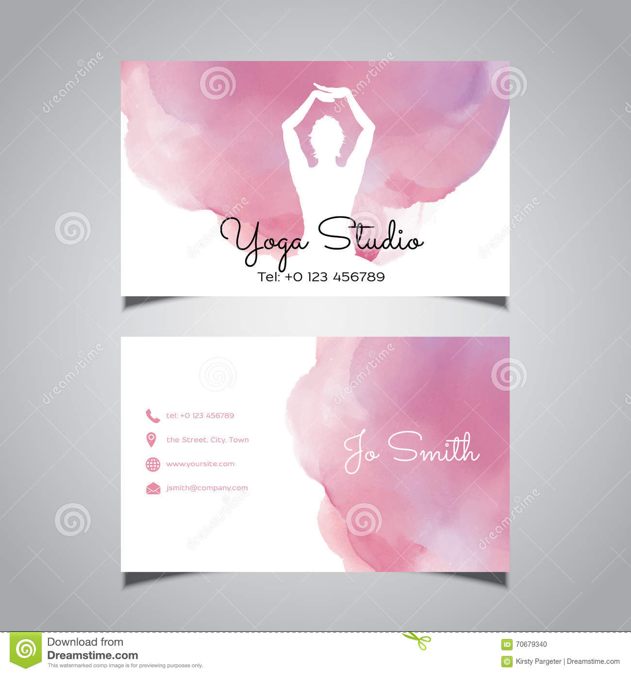 Yoga design business card stock vector. Illustration of female ...