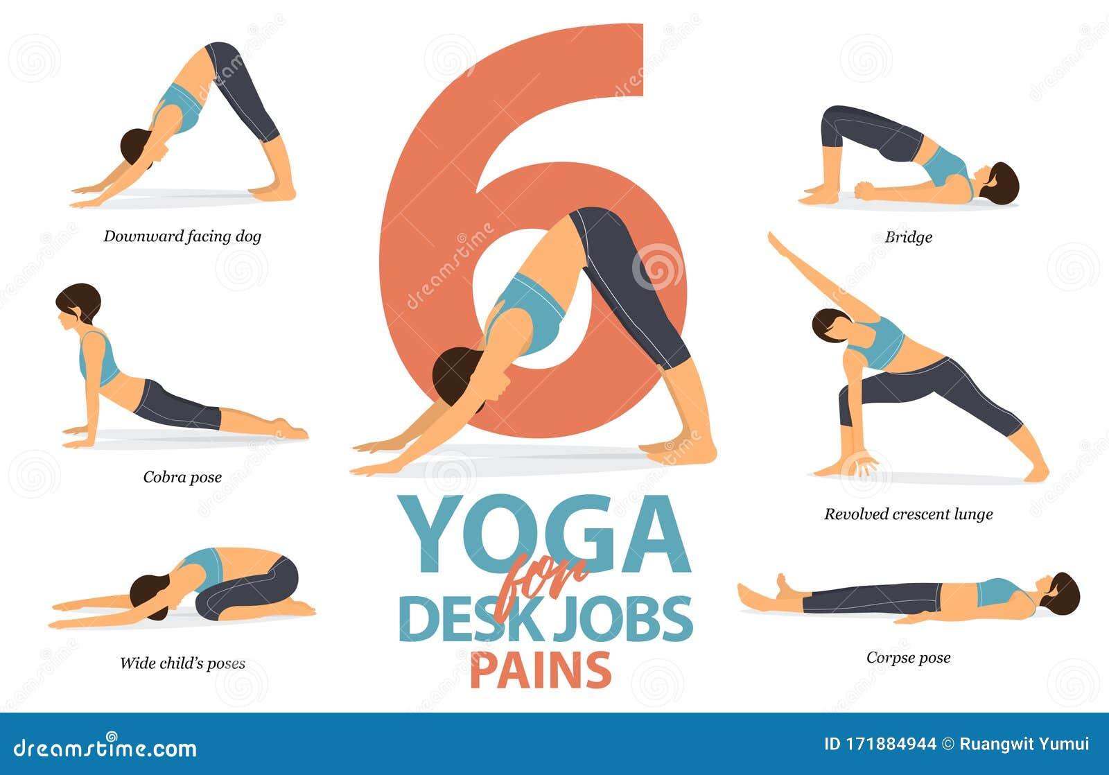 Yoga Poses Cartoon Stock Illustrations – 50,50 Yoga Poses Cartoon ...