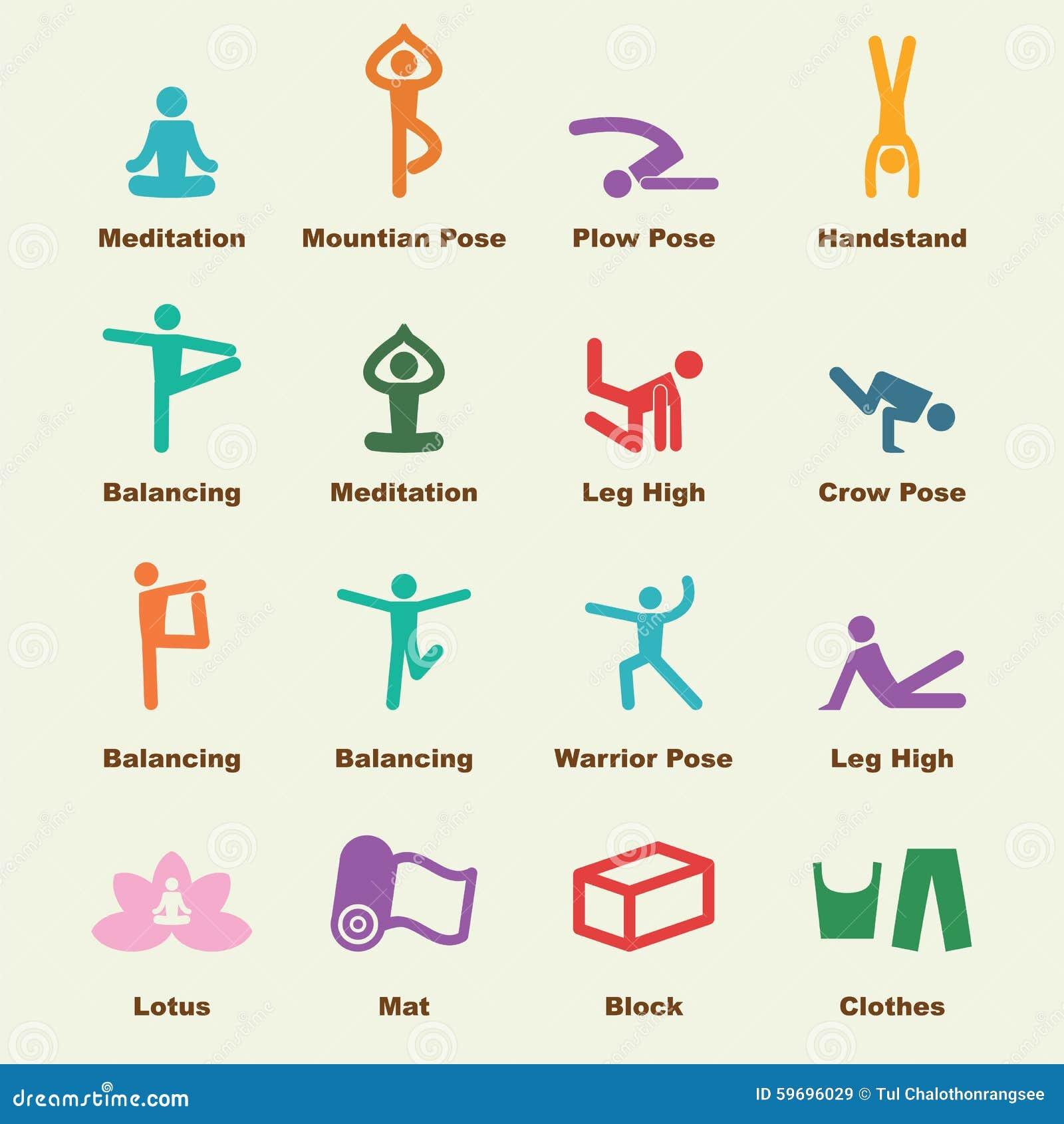 Yoga Elements Stock Vector Image 59696029