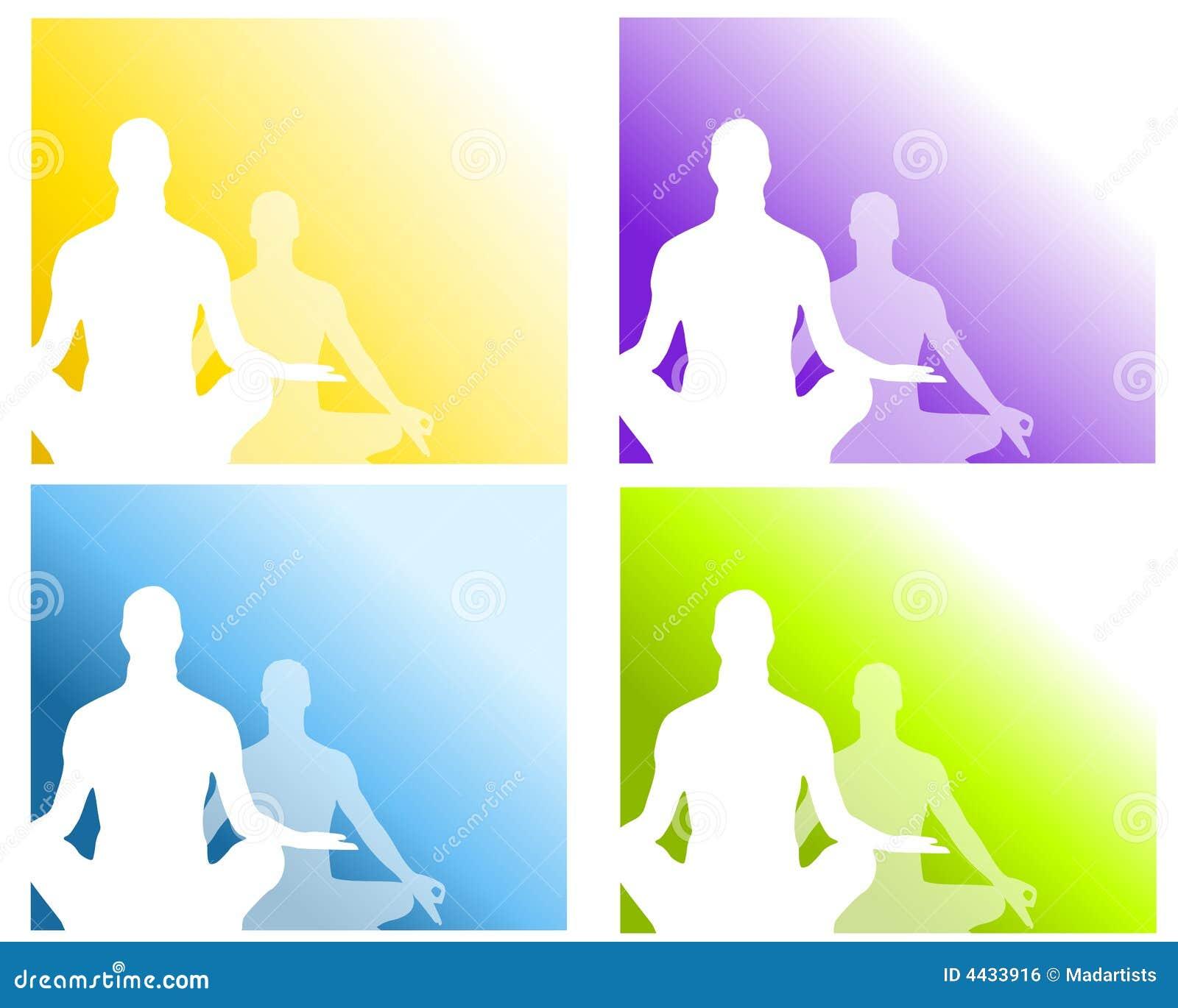 Yoga för pos. för 2 meditation sittande