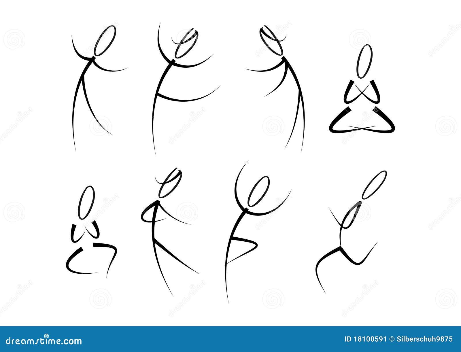 Yoga för sportar för konditionrörelsefolk