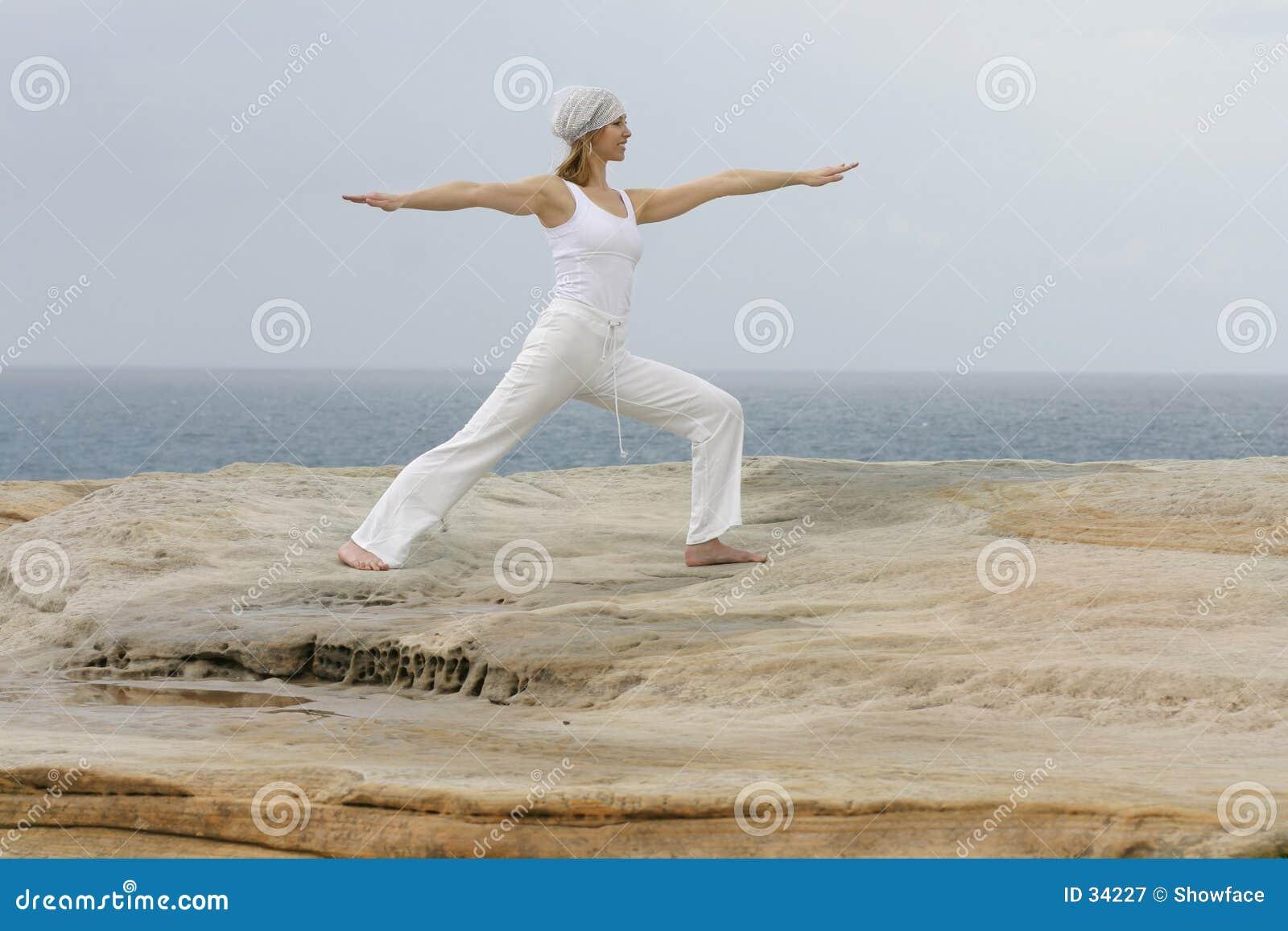 Yoga för virabhadrasana ii