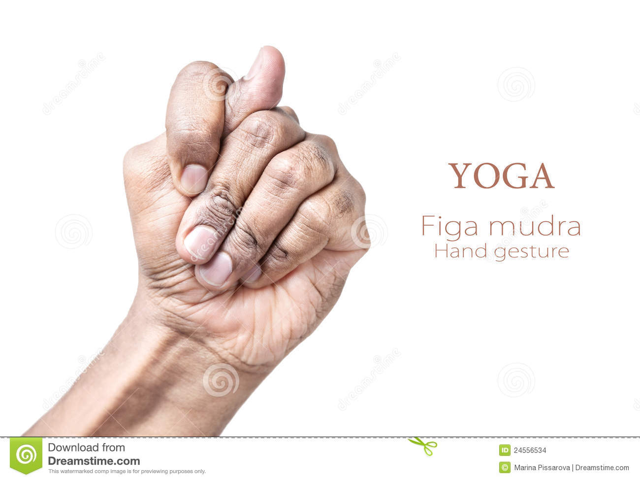 Hand in Figa mudra by Indian man isolated at white background. Free ...