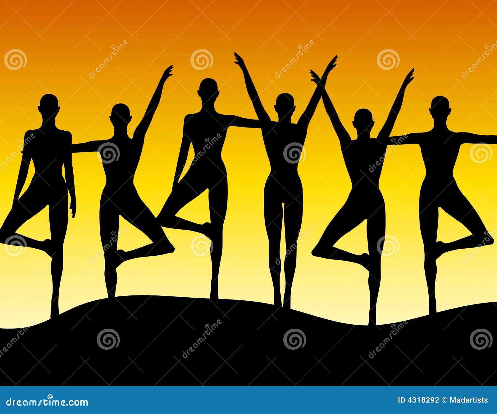Various Women Dancing Clip Art Stock Illustration ...