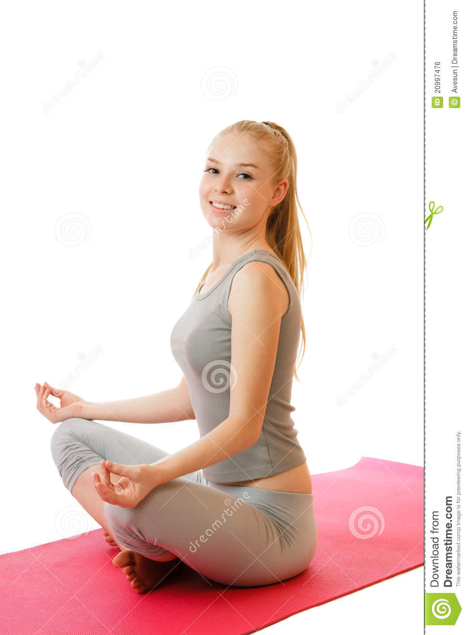 Yoga Girl Stock Photo Image Of Sports, Blond, Lovely -9081