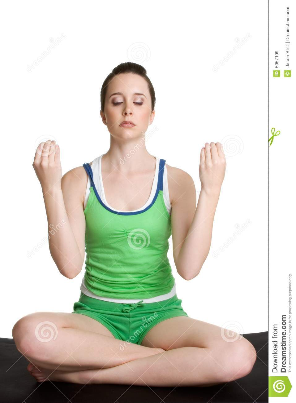 Yoga Girl Stock Image Image Of Girls Sitting Meditation