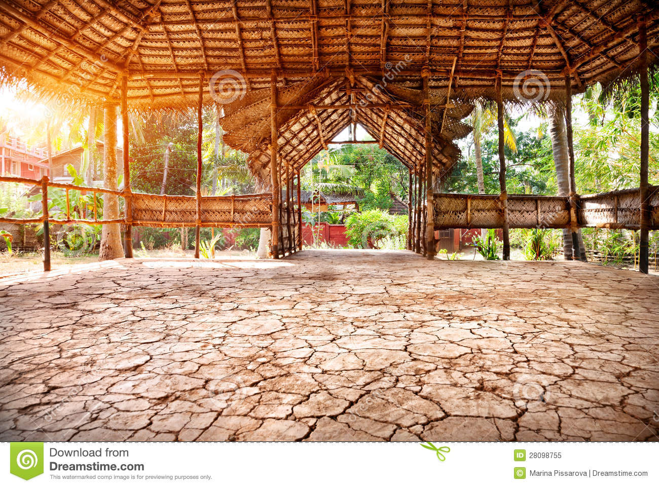 Yoga Hall In India Royalty Free Stock Photo Image 28098755
