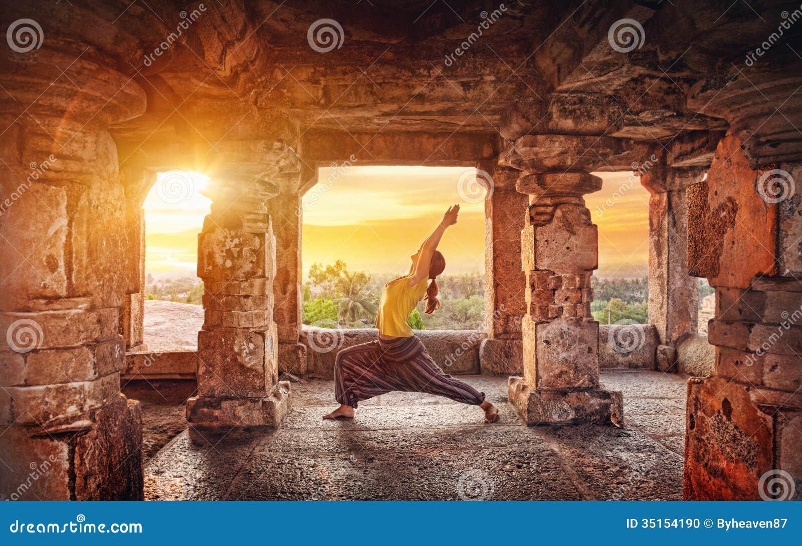 Yoga in Hampi temple