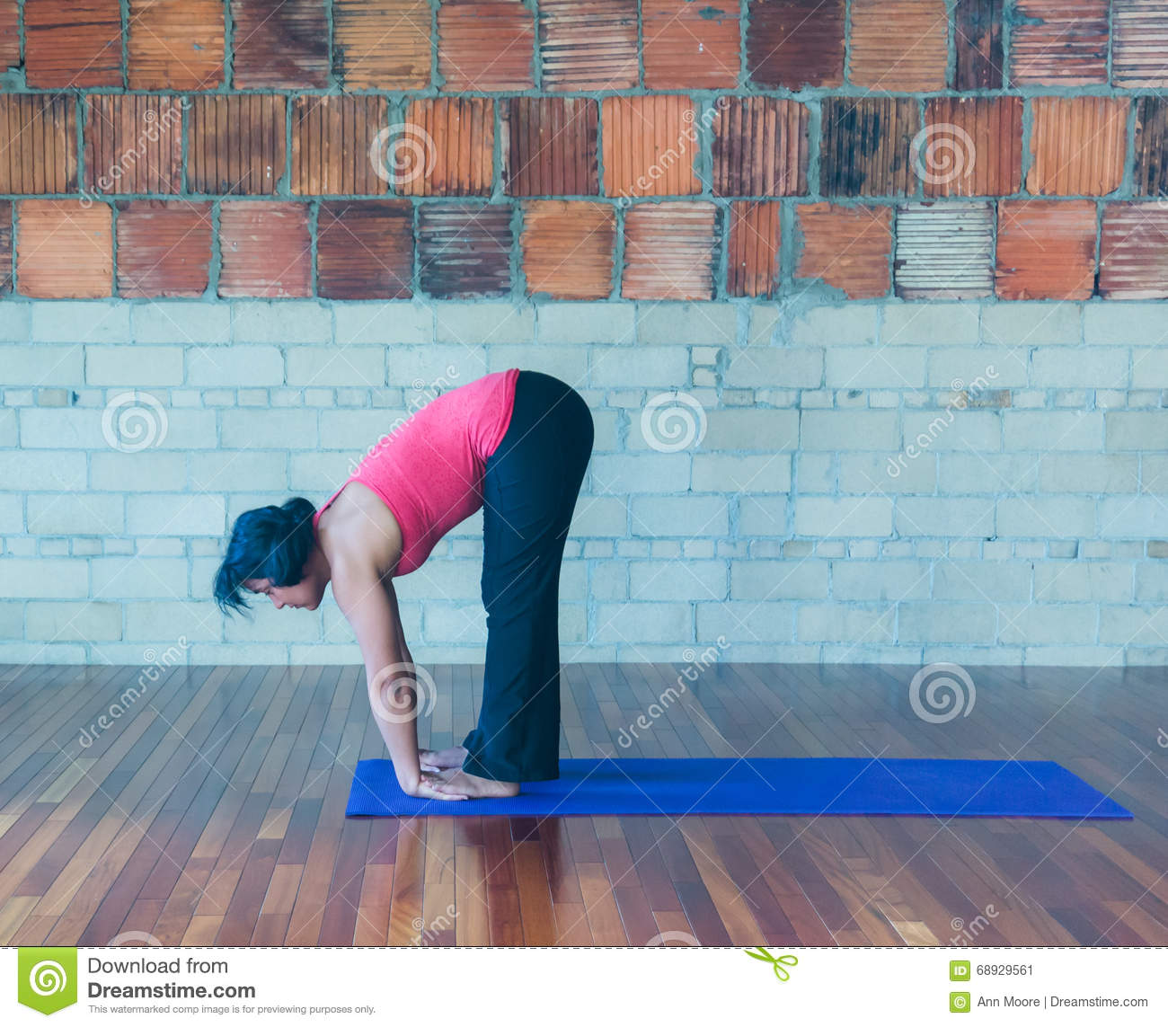 Yoga hand under foot pose