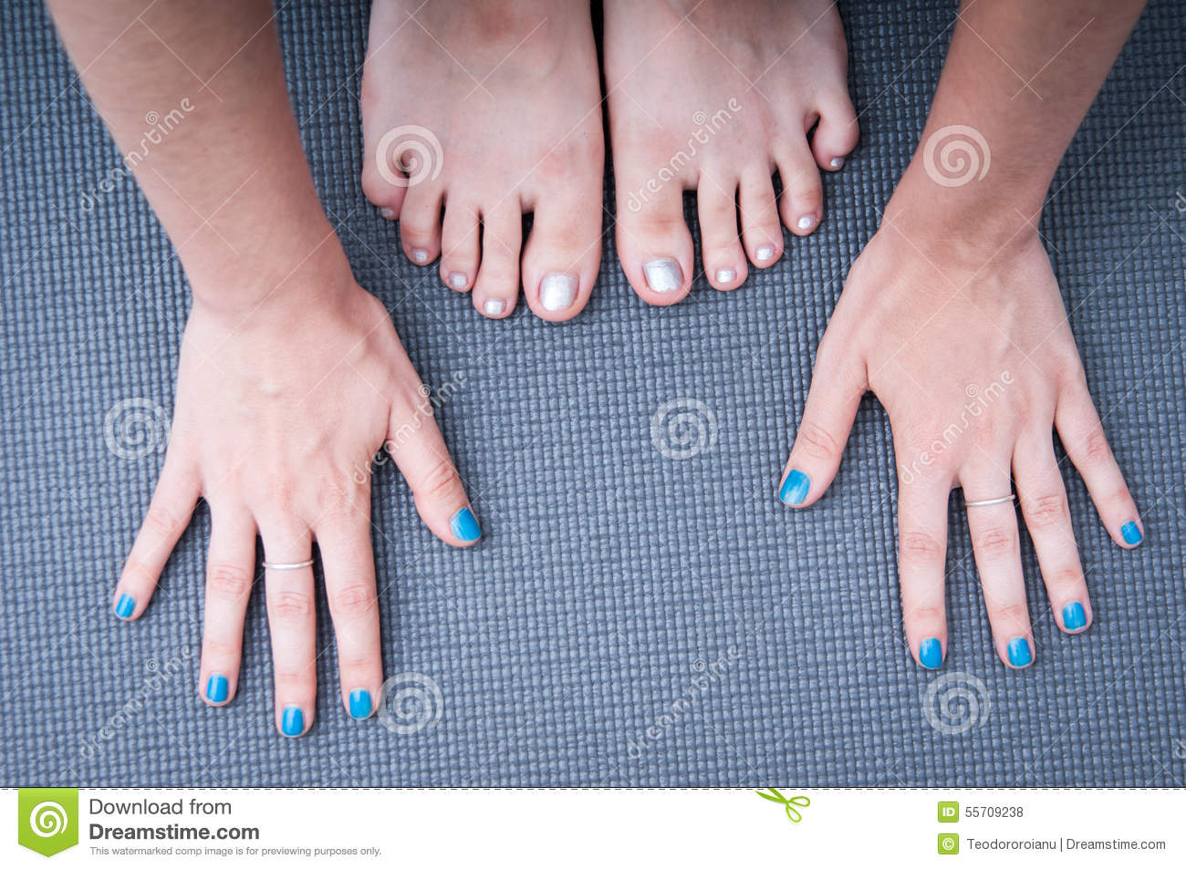 Feet Rolling On Skates Woman On The Ice Rink Stock Image